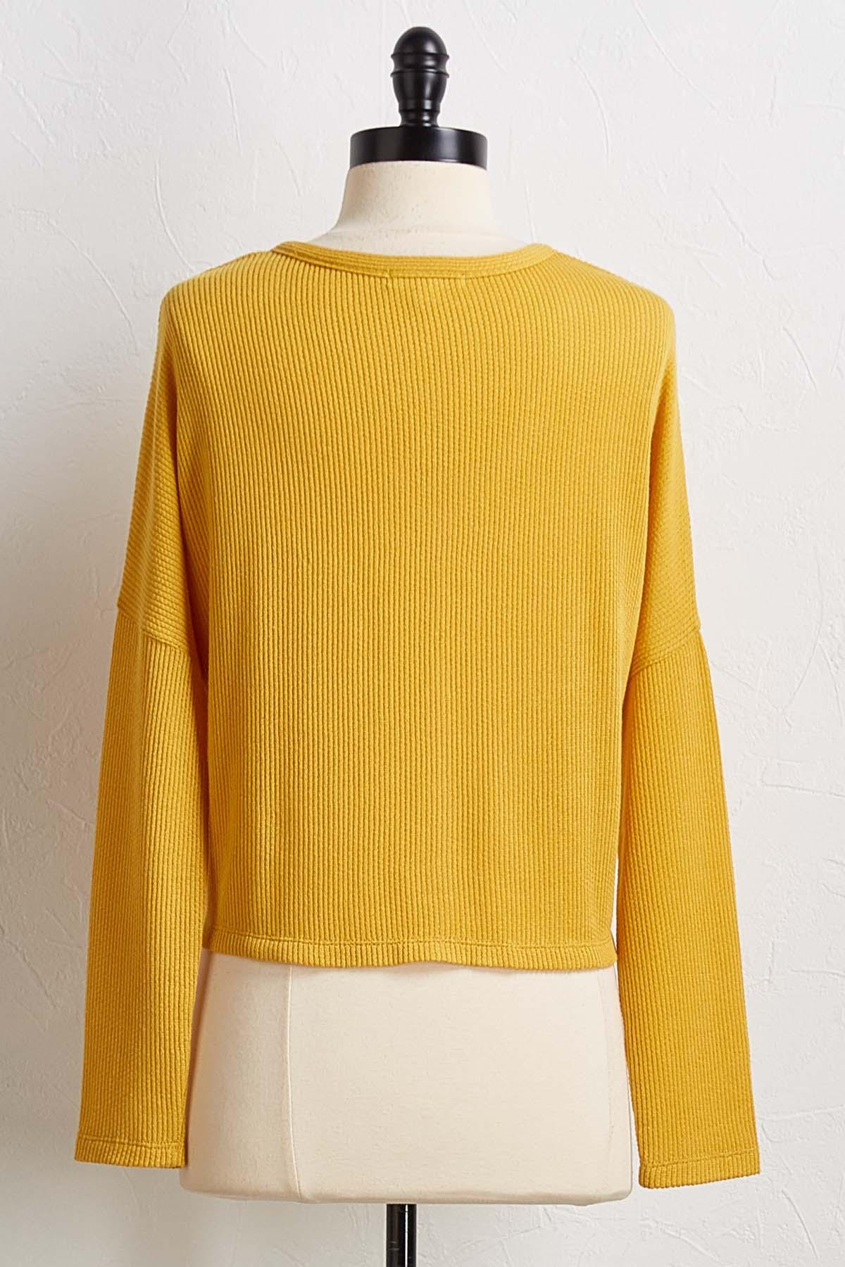 Gold Waffle Top