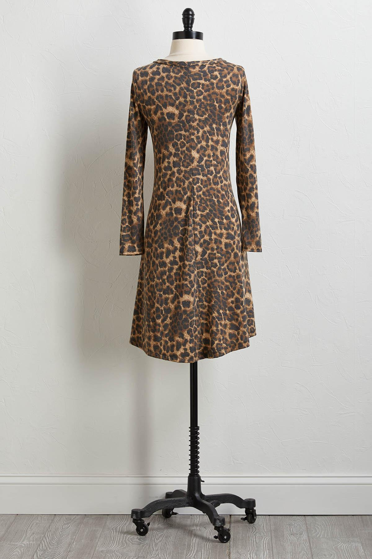 Leopard Hacci Shift Dress