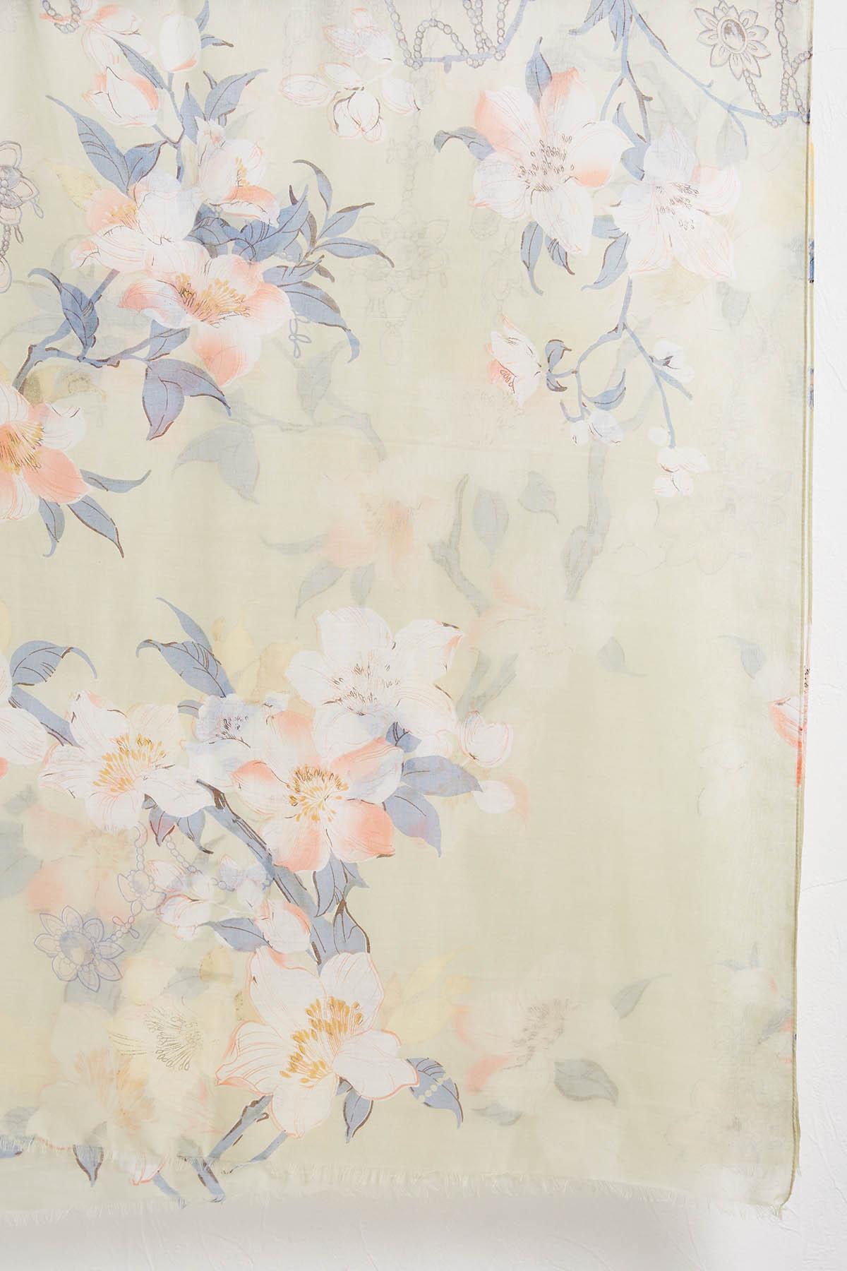 Floral Oblong Scarf