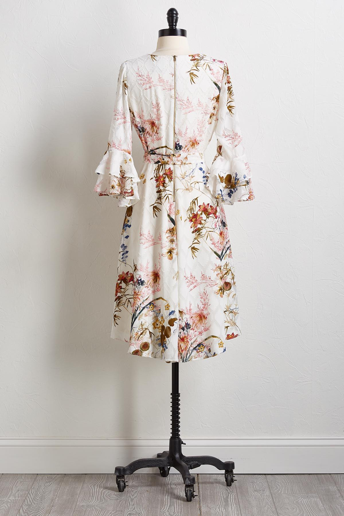 Burnout Floral Dress