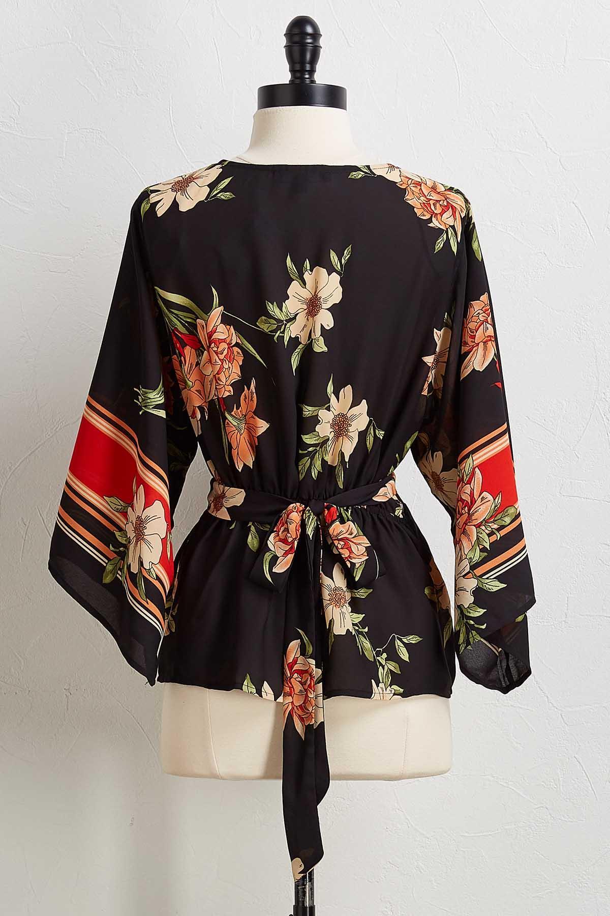 Floral Tie Back Top