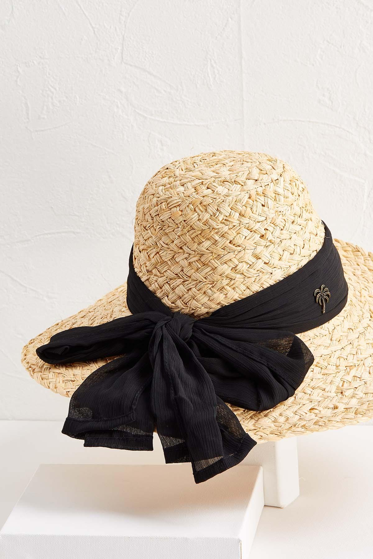 Straw Scarf Sun Hat