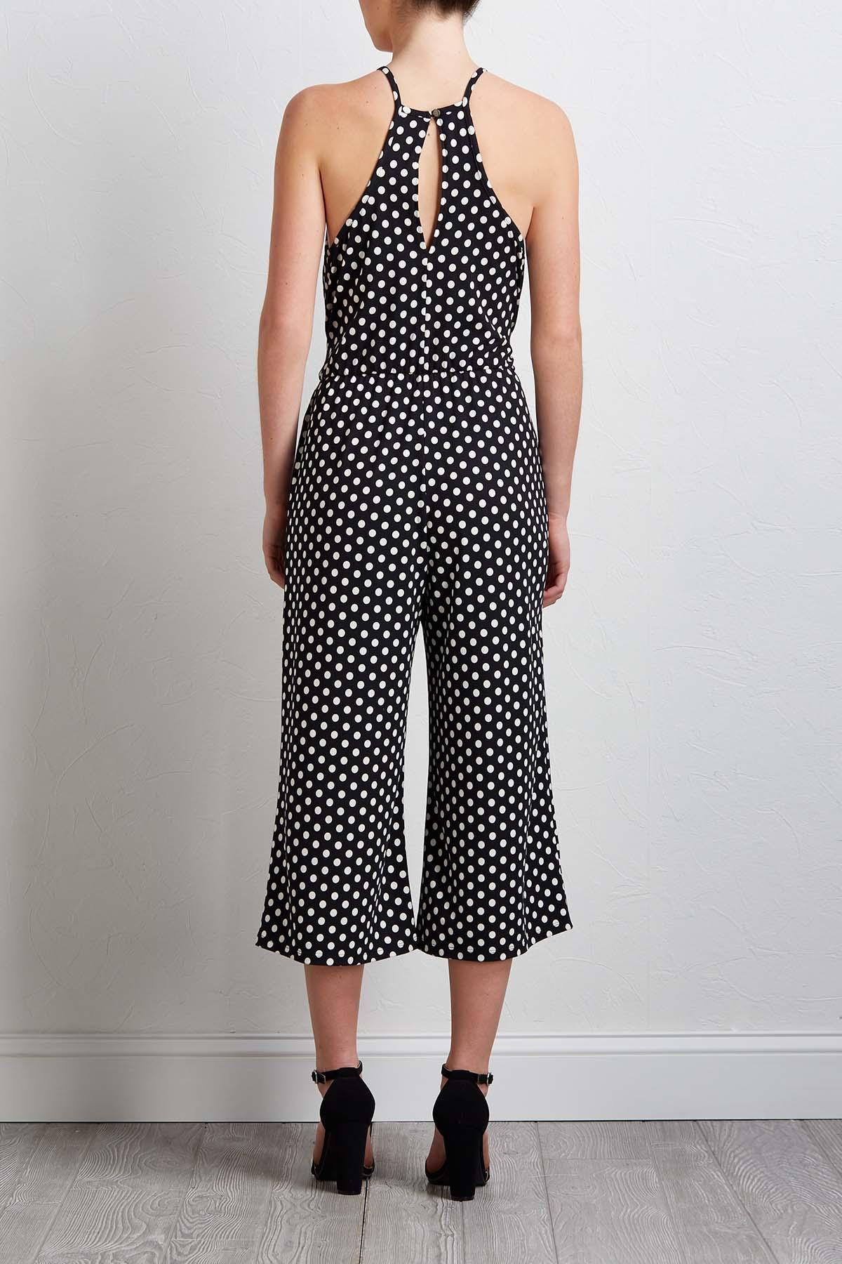Cropped Polka Dotted Jumpsuit