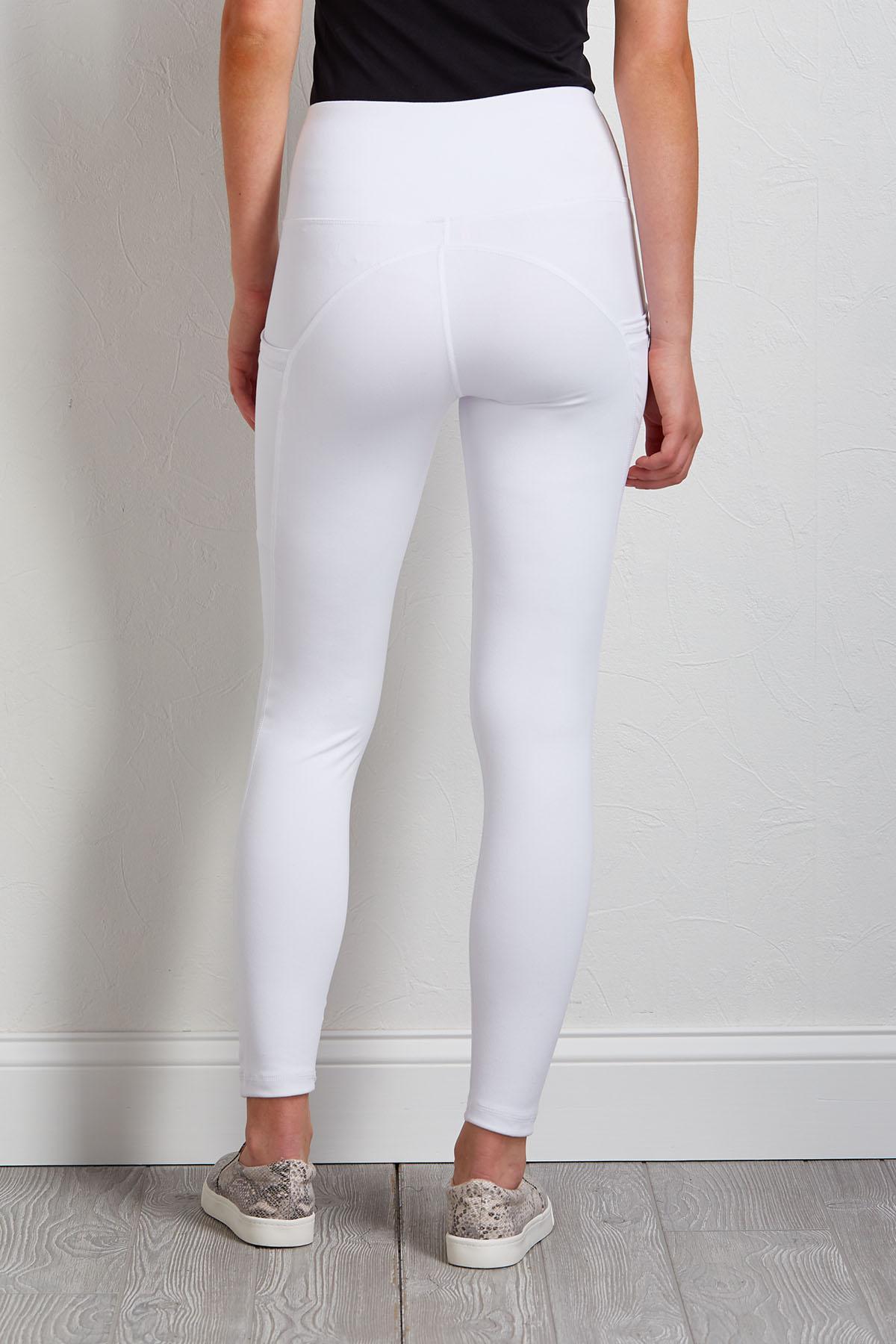 White Side Pocket Leggings