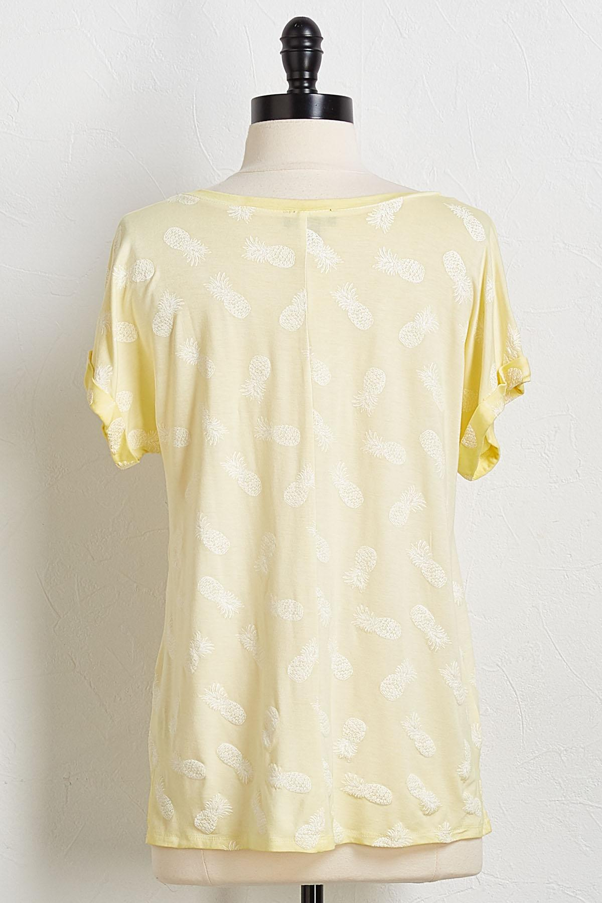 Pineapple V- Neck Tee