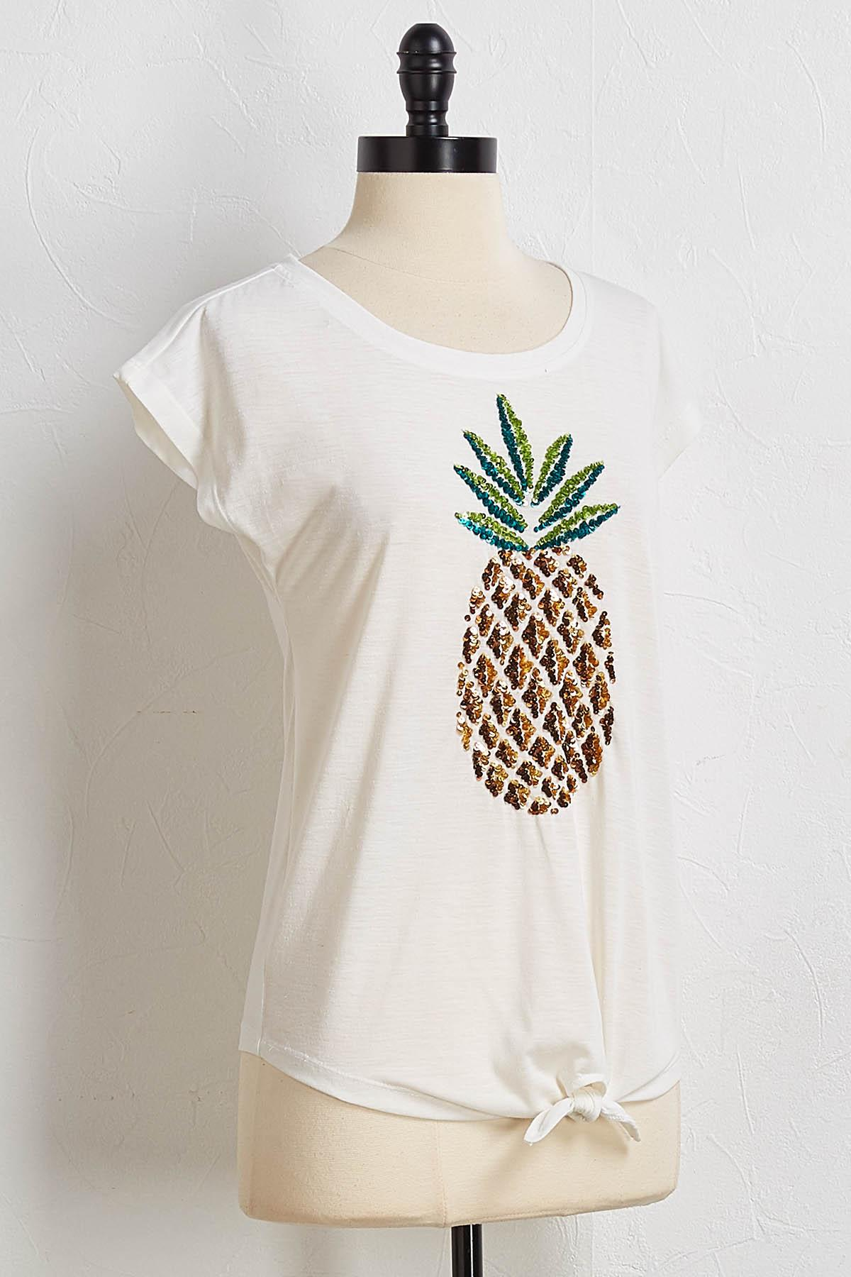 Pineapple Sequin Tee