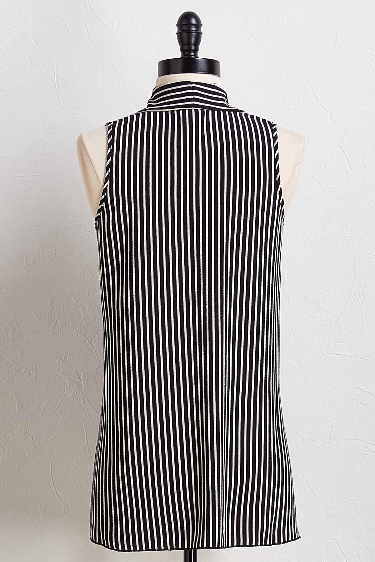 Striped Inverted Pleat Tank