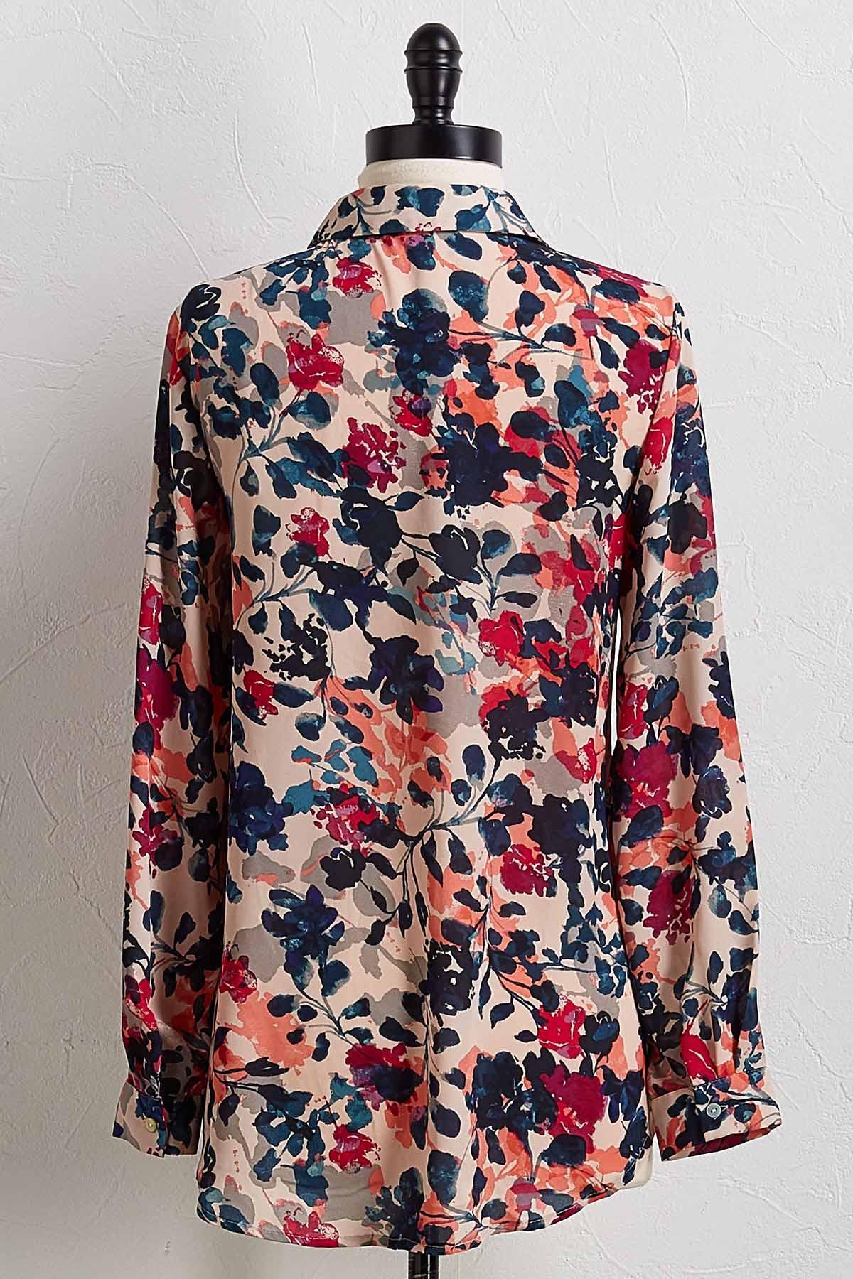 Floral Boyfriend Shirt