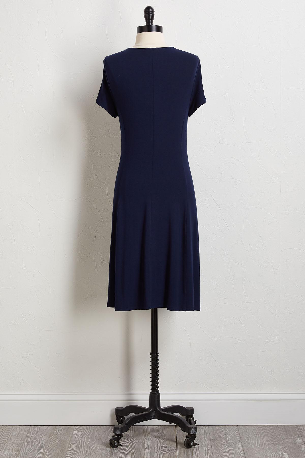 Navy Strappy Tee Shirt Dress