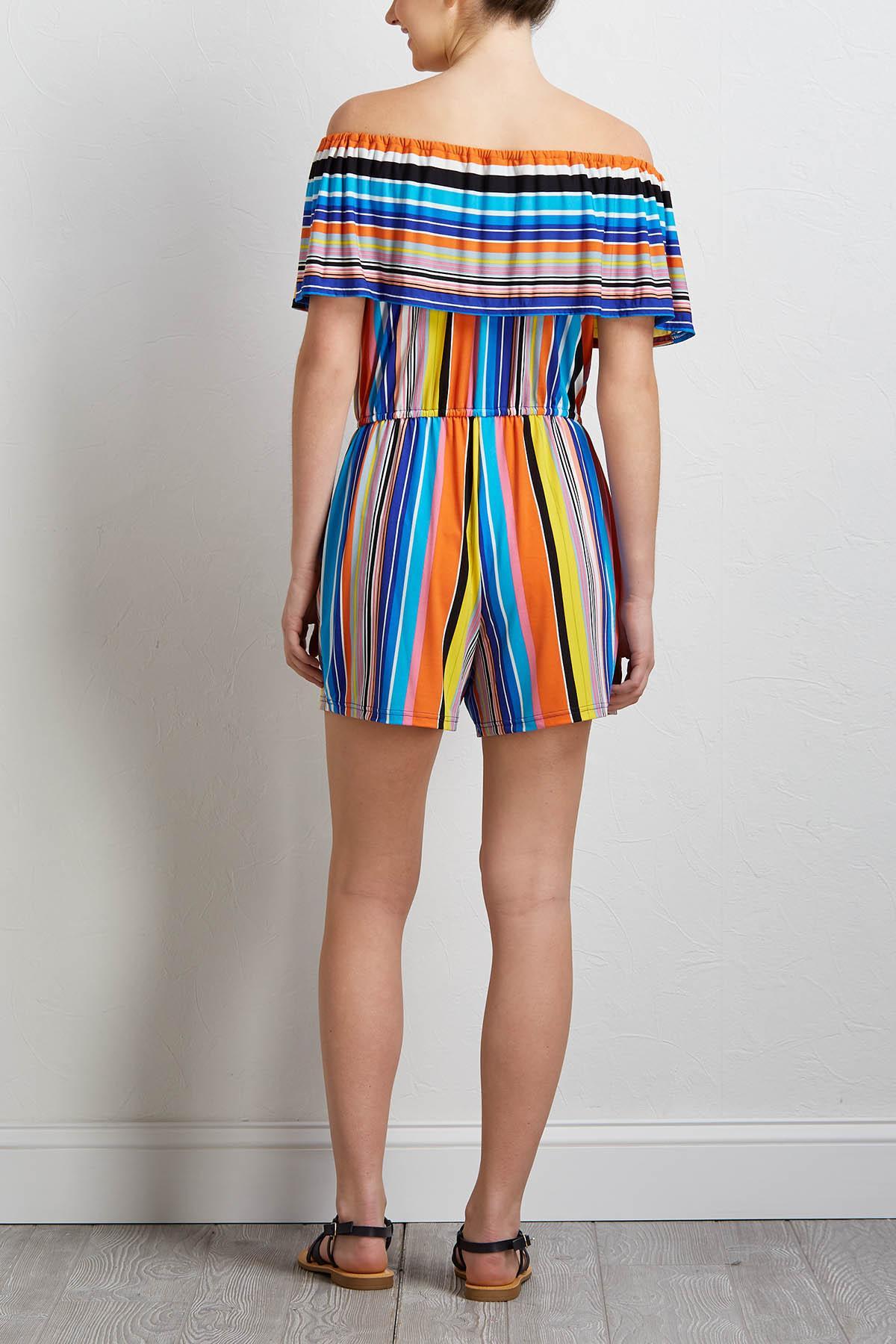 Rainbow Stripe Romper