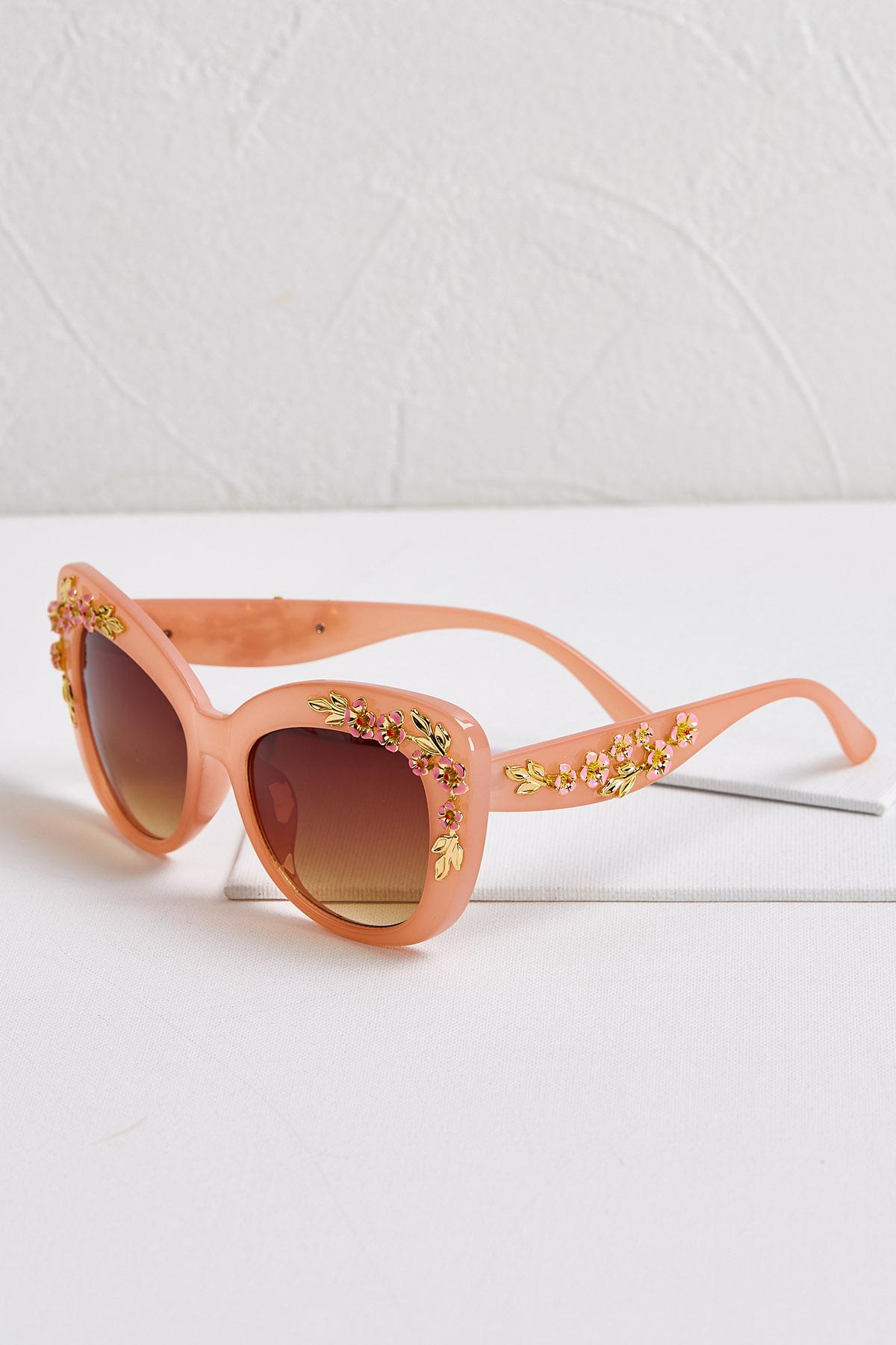 Floral Embellished Sunglasses