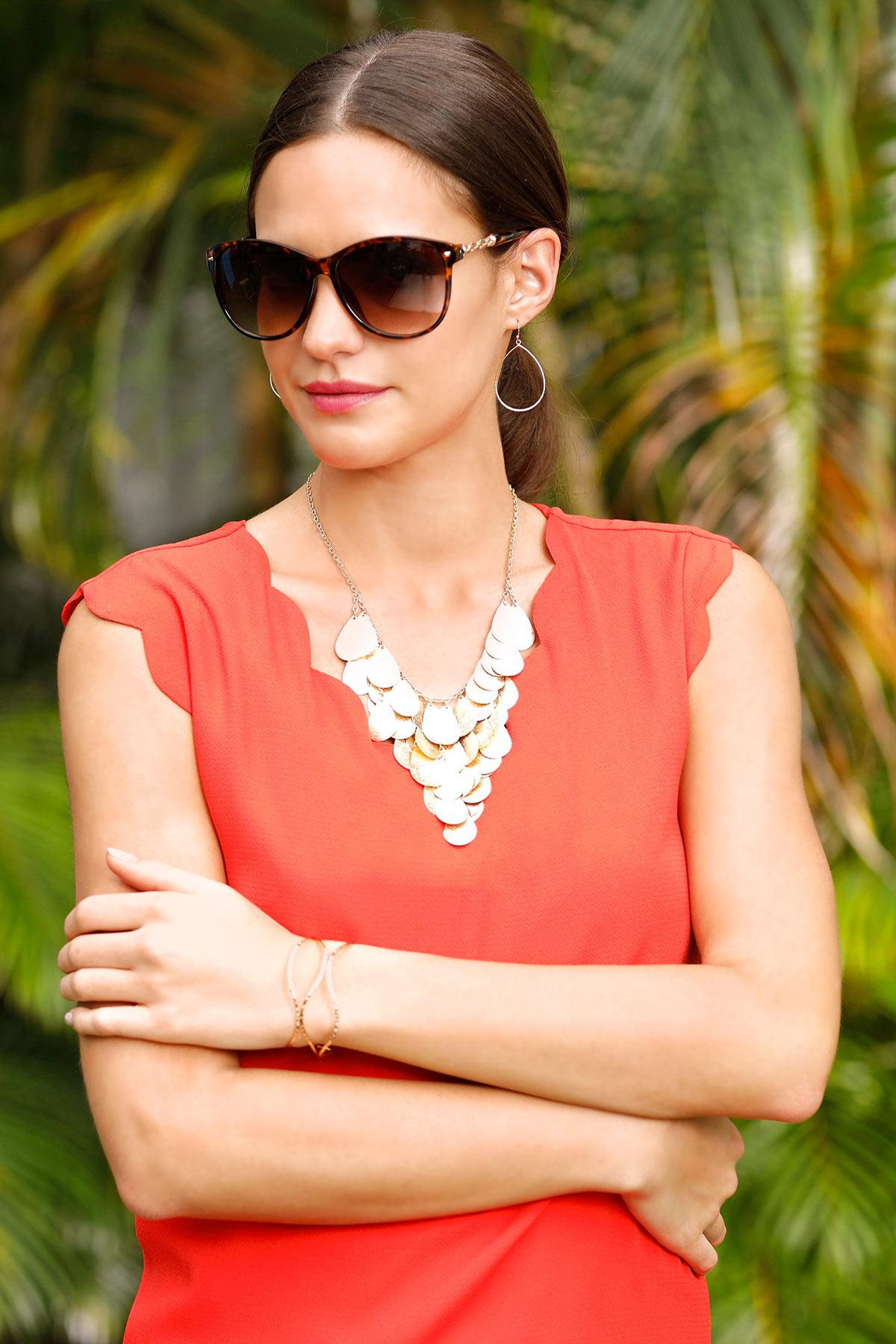 Trellis Arm Sunglasses