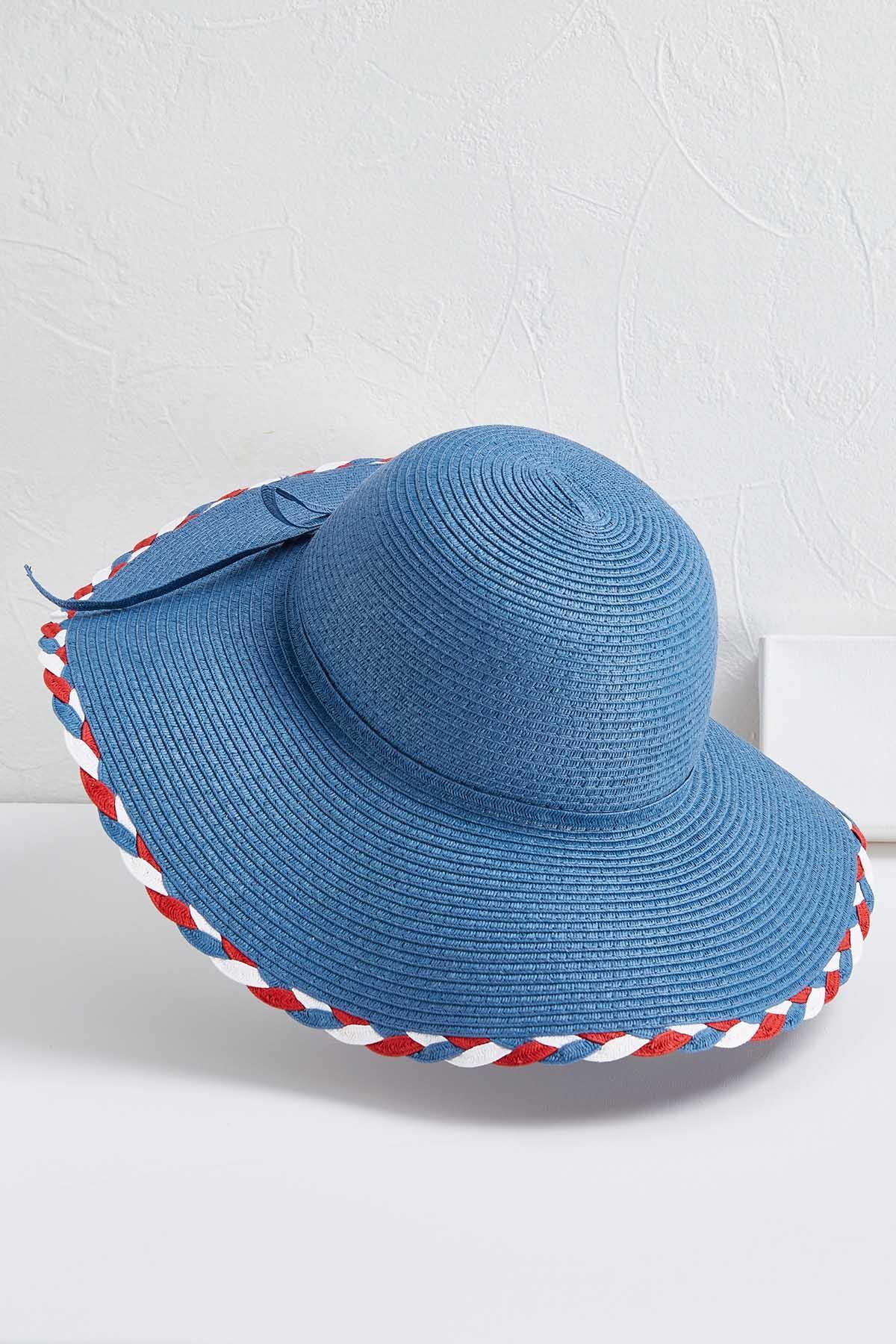 Braided Trim Floppy Hat