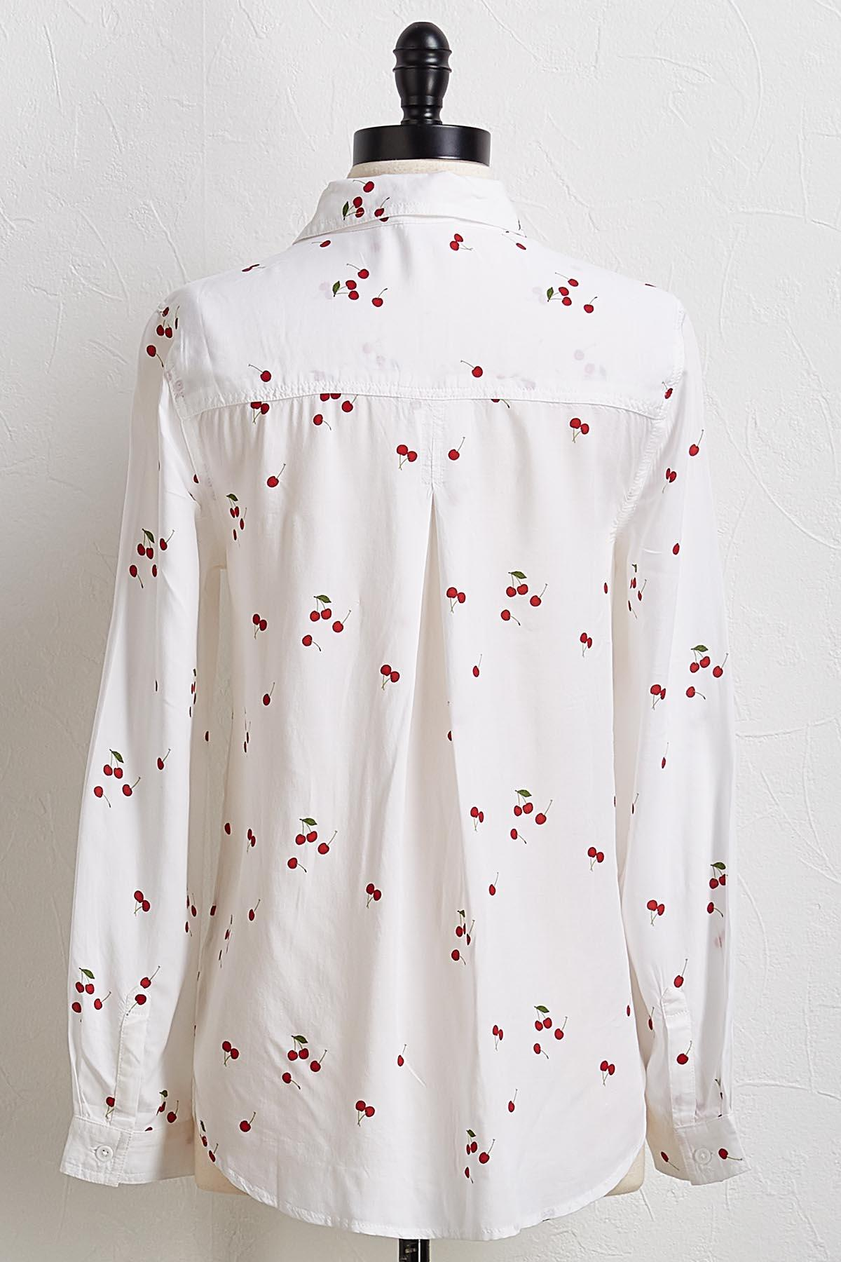 Cherry Button Down Tunic