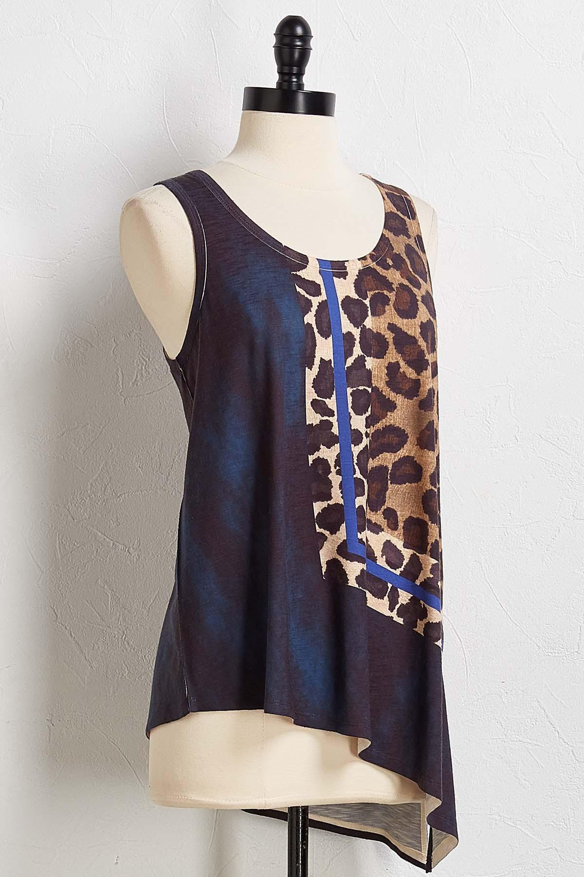 Colorblock Cheetah Tank