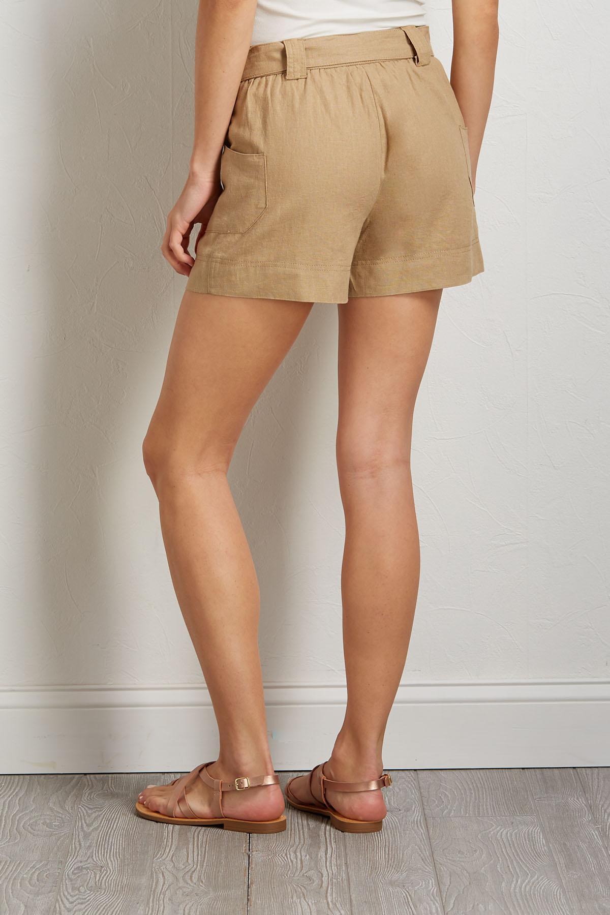 Tie Waist Utility Shorts