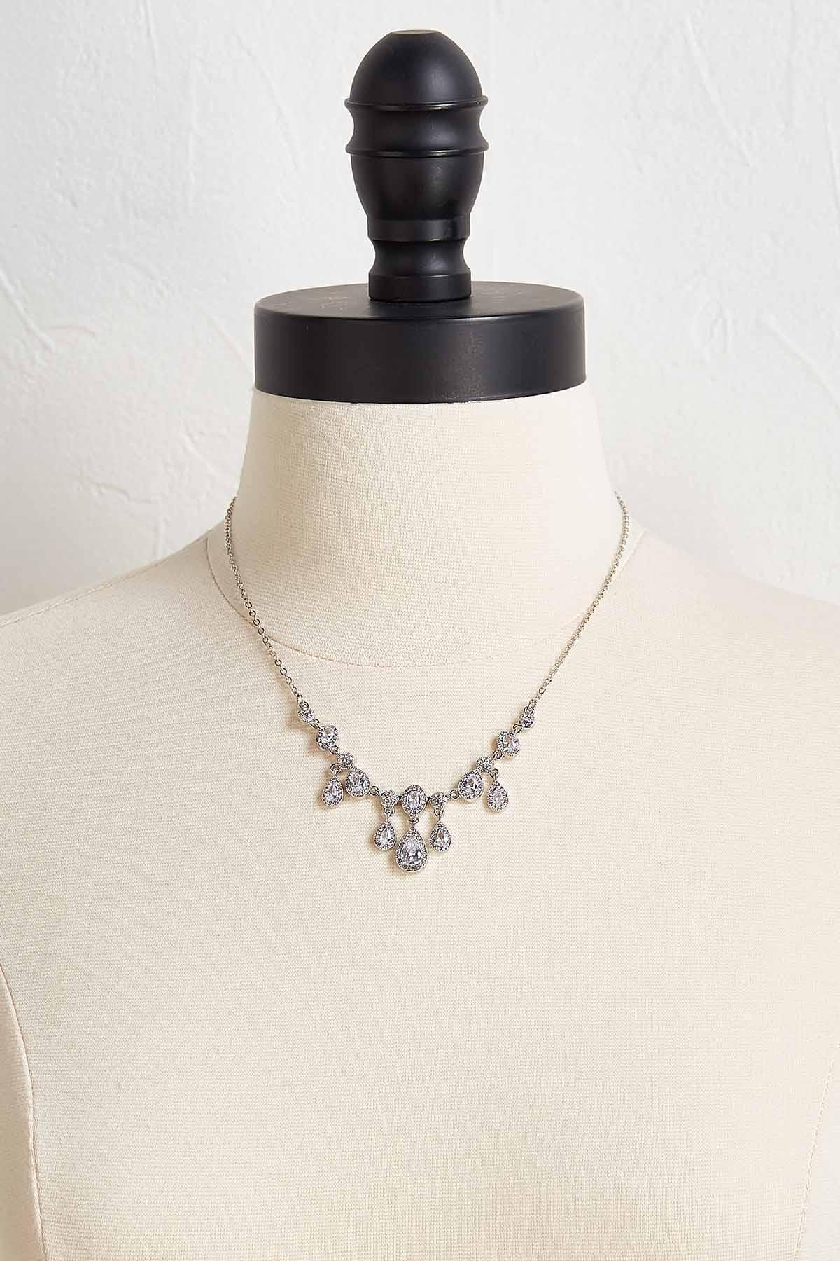 Vintage Stone Necklace And Earring Set