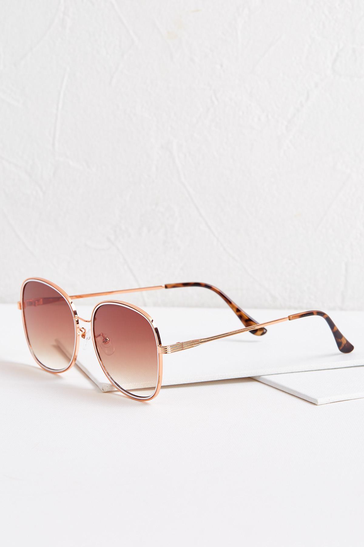 White Enamel Trim Sunglasses