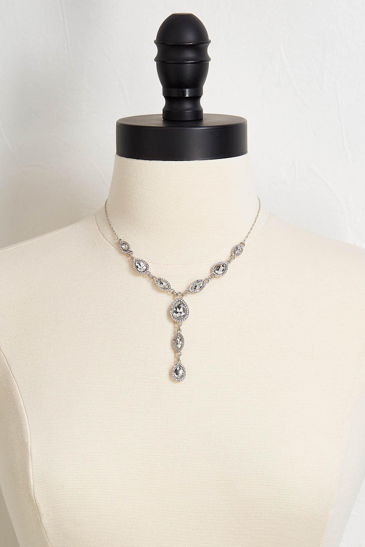 Tear Glass Y- Necklace
