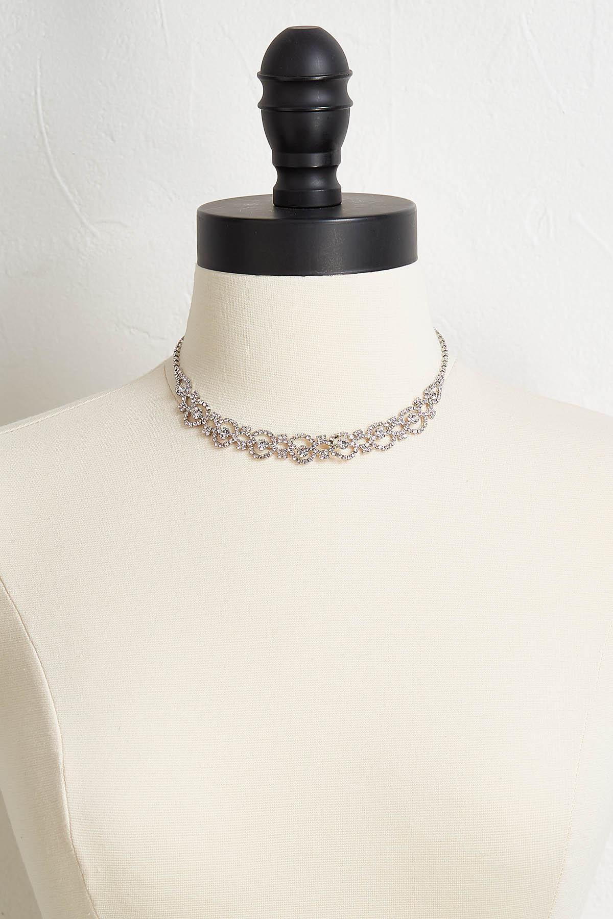 Dainty Stone Necklace And Earring Set