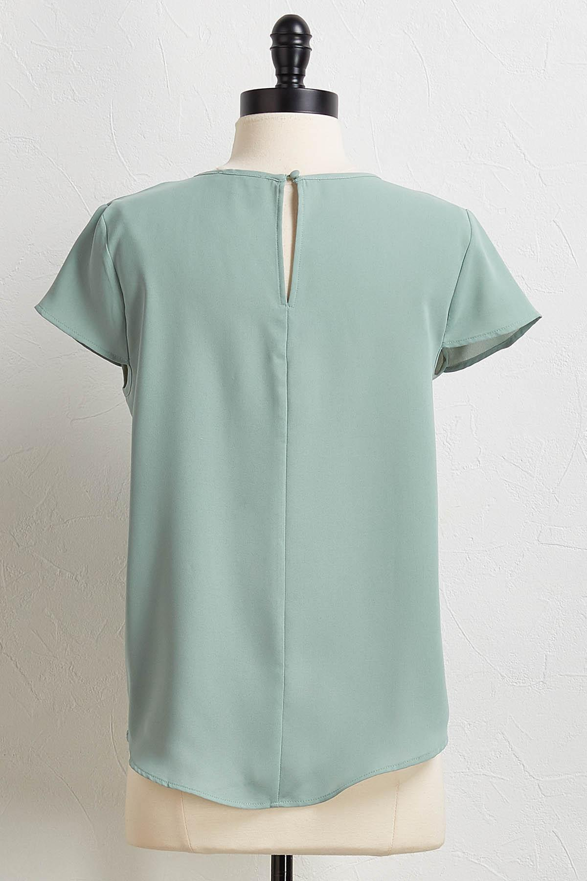 Solid Woven Top