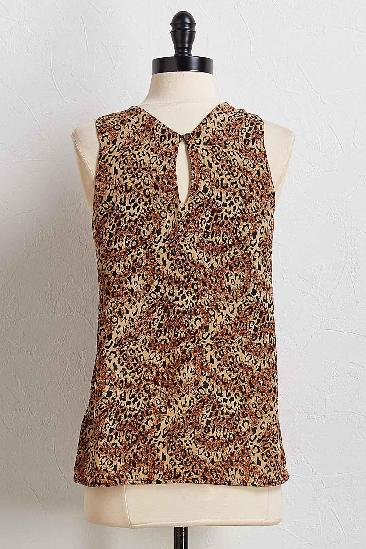 Knotted Leopard Halter Top