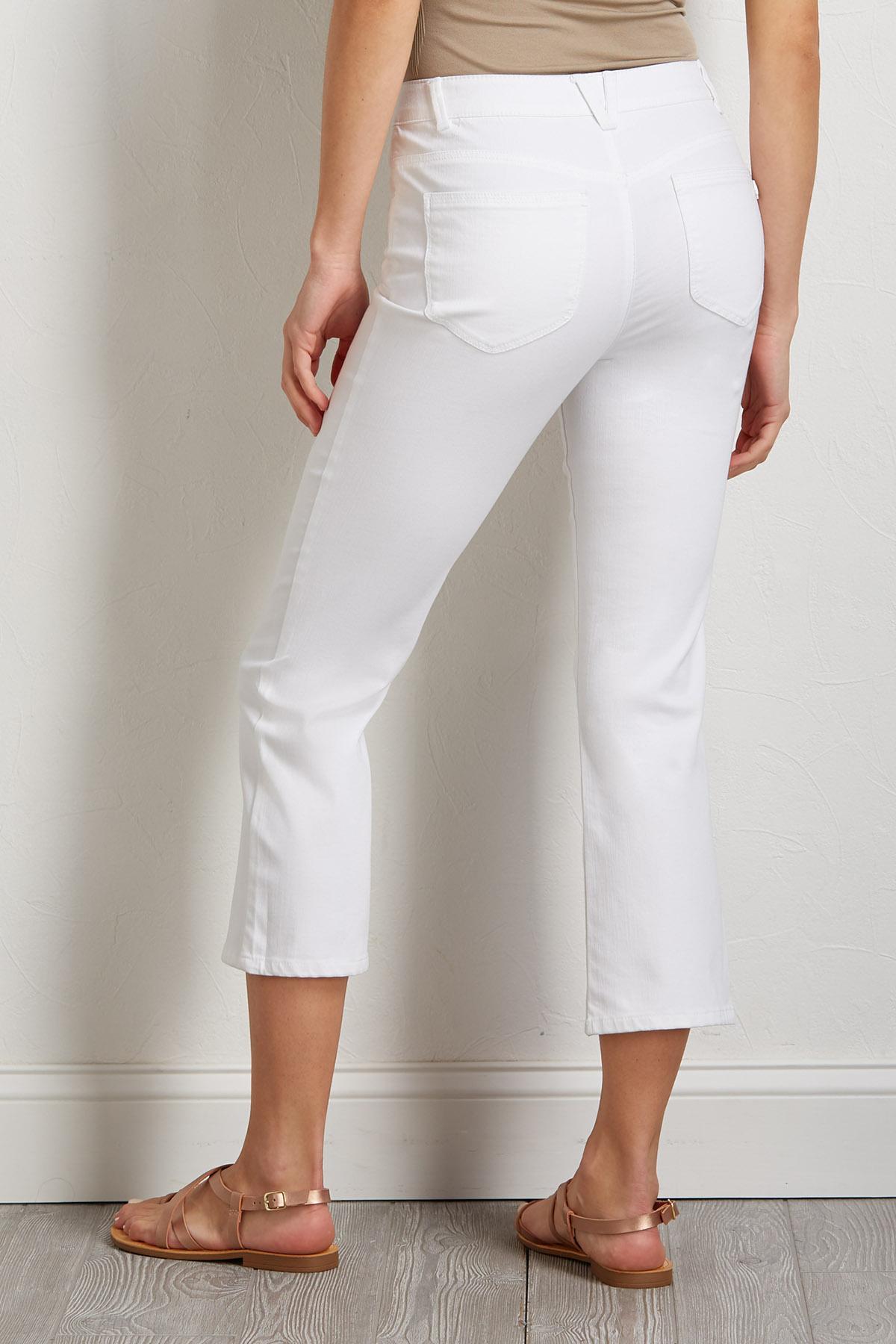 White Kick Flare Pants