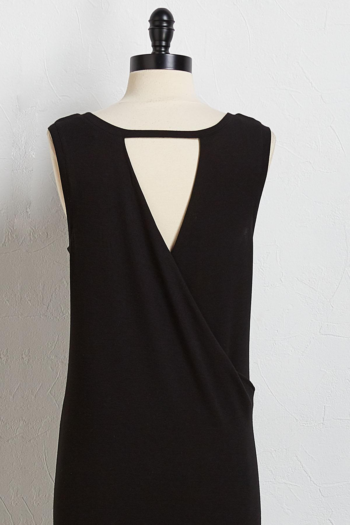 Surplice Back Tank Dress