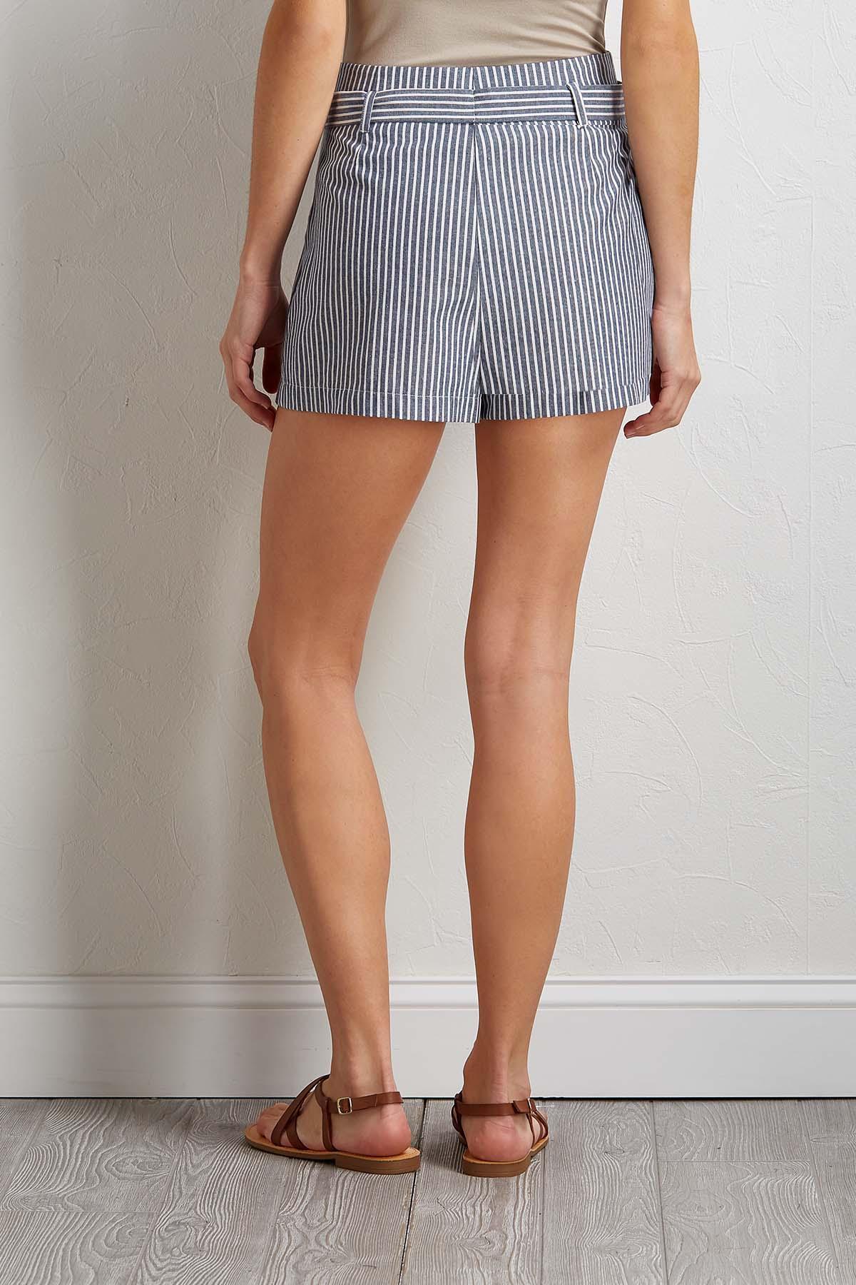 Tie Waist Stripe Shorts