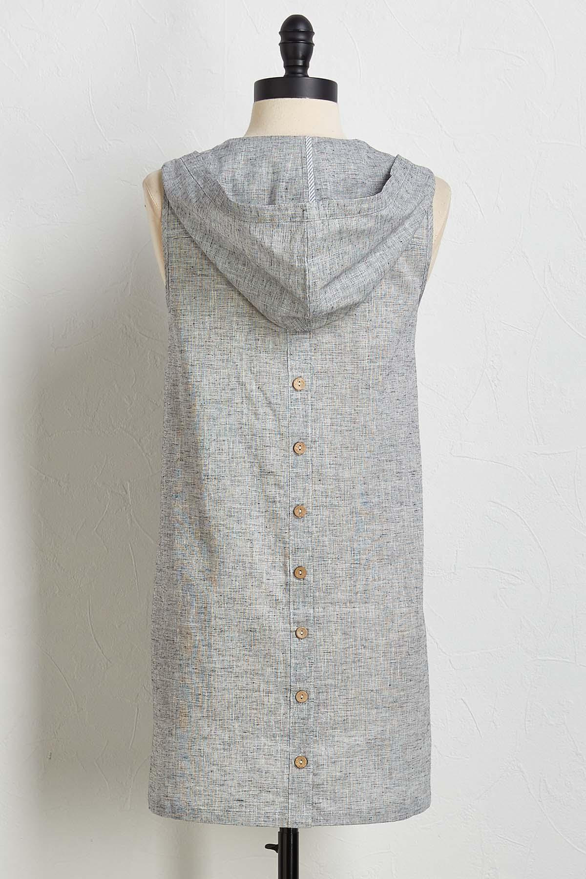 Button Back Hooded Tunic
