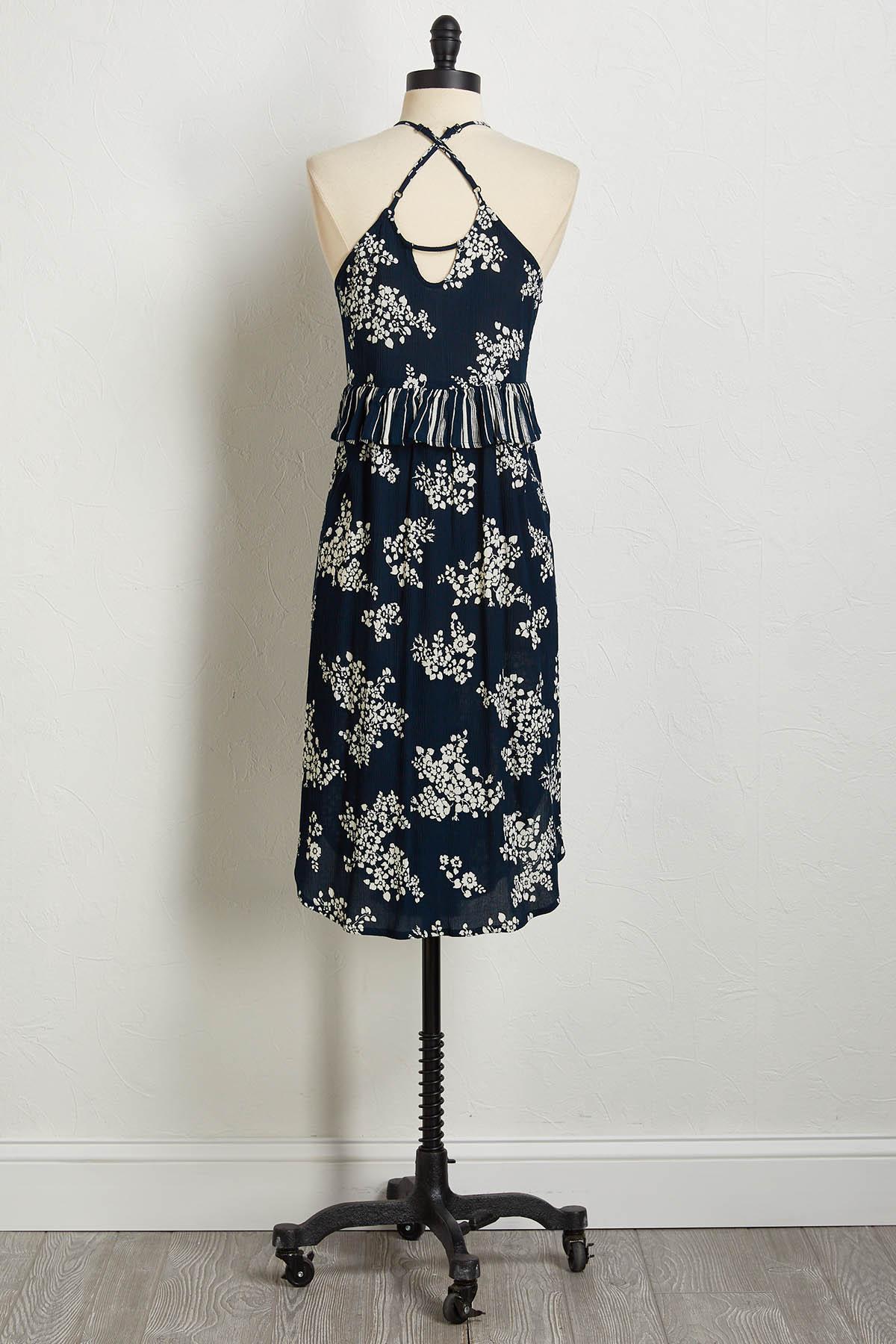 Gauze Floral Dress
