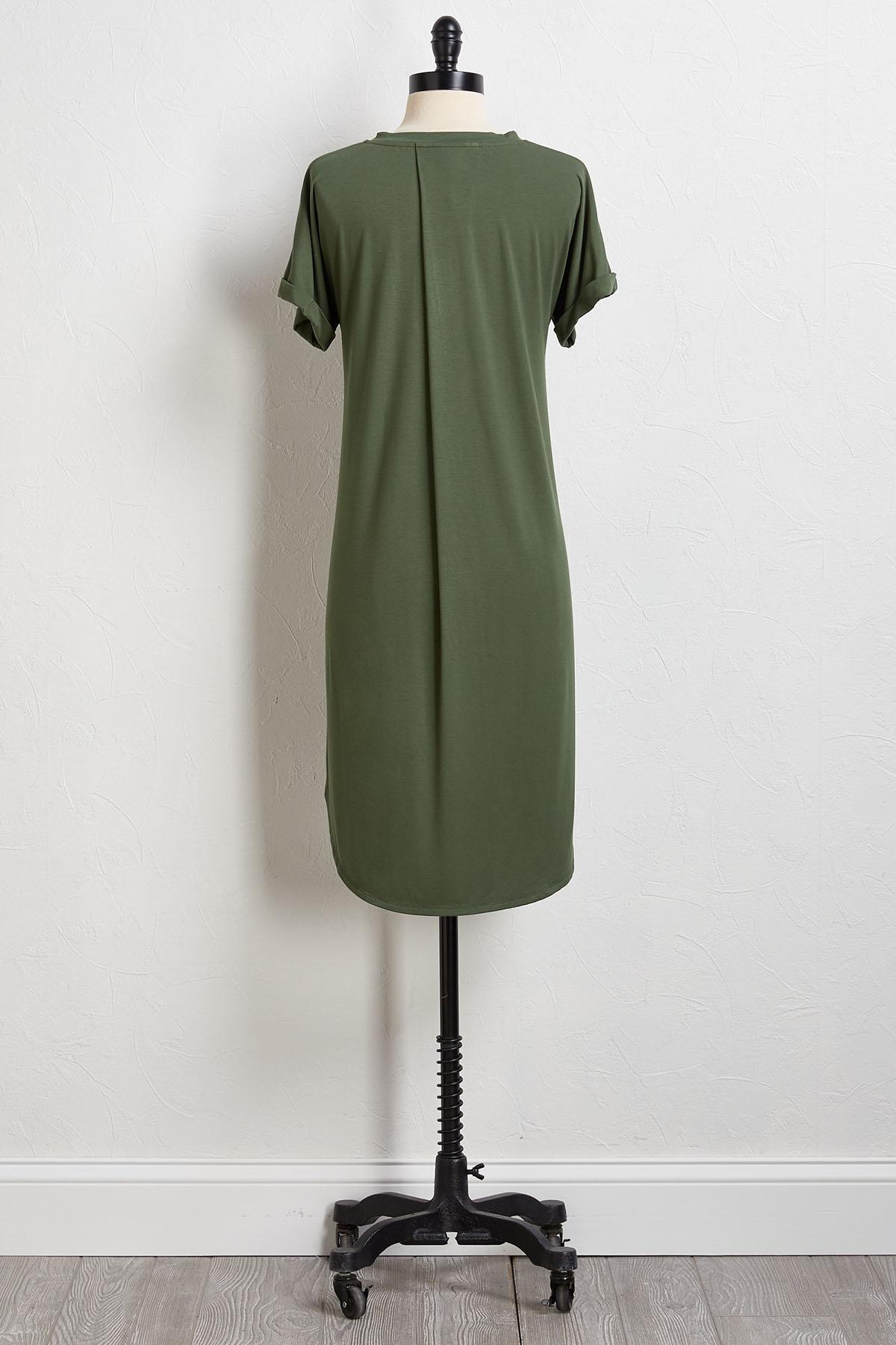 Solid Tee Shirt Dress