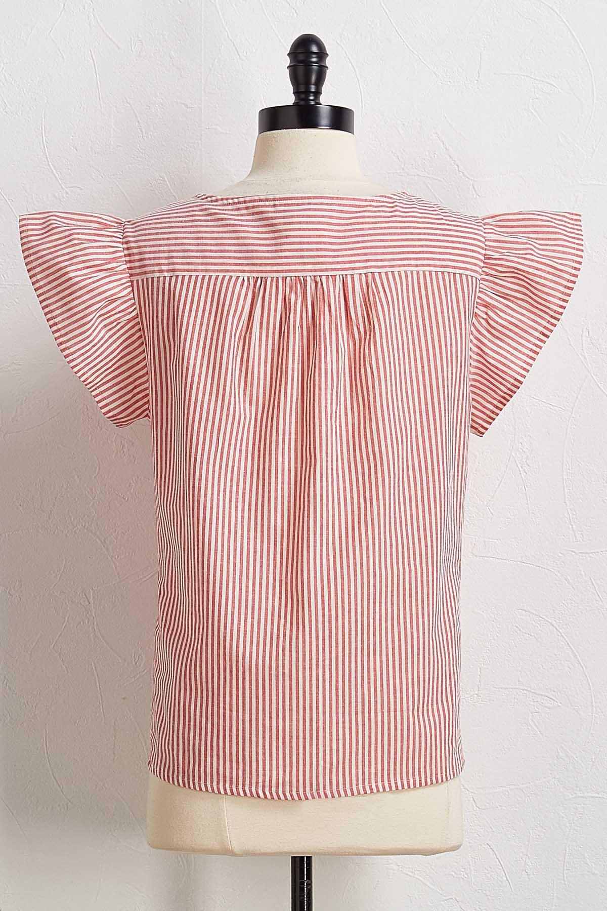 Stripe Ruffled Top