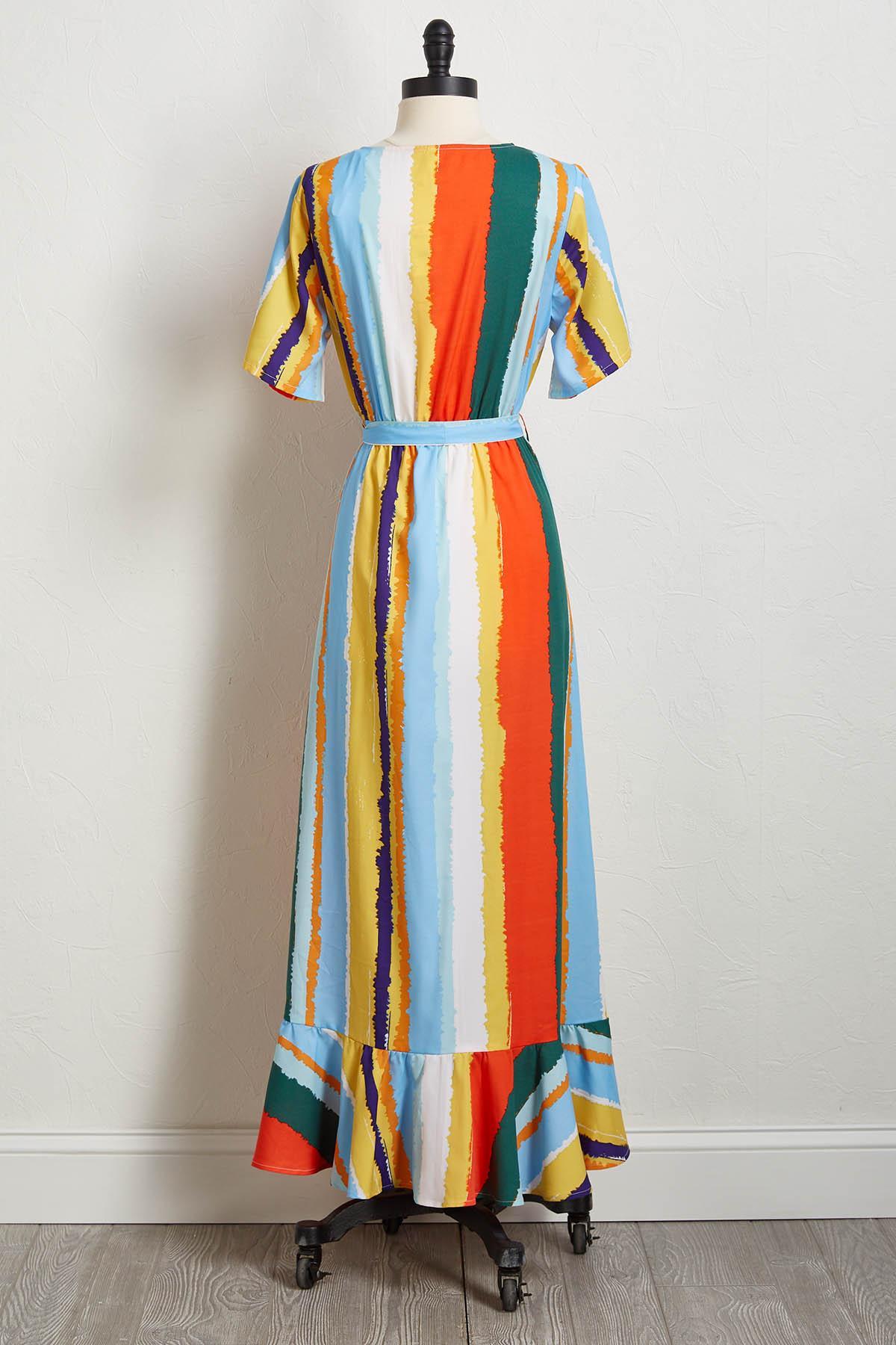 Painted Rainbow Maxi Dress
