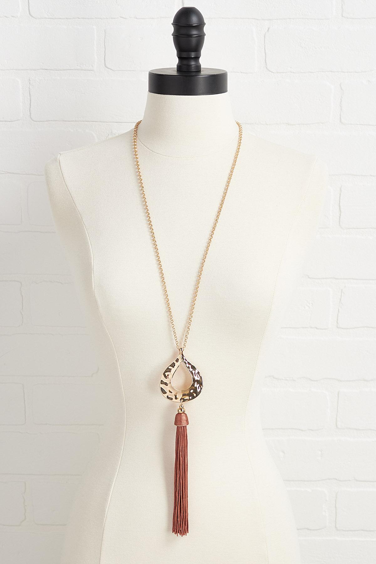 Tear And Tassel Necklace