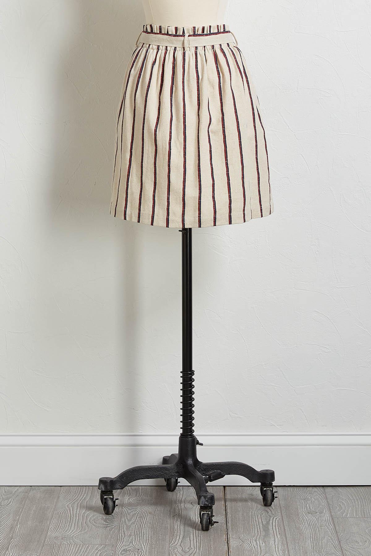 Stripe Linen Mini Skirt