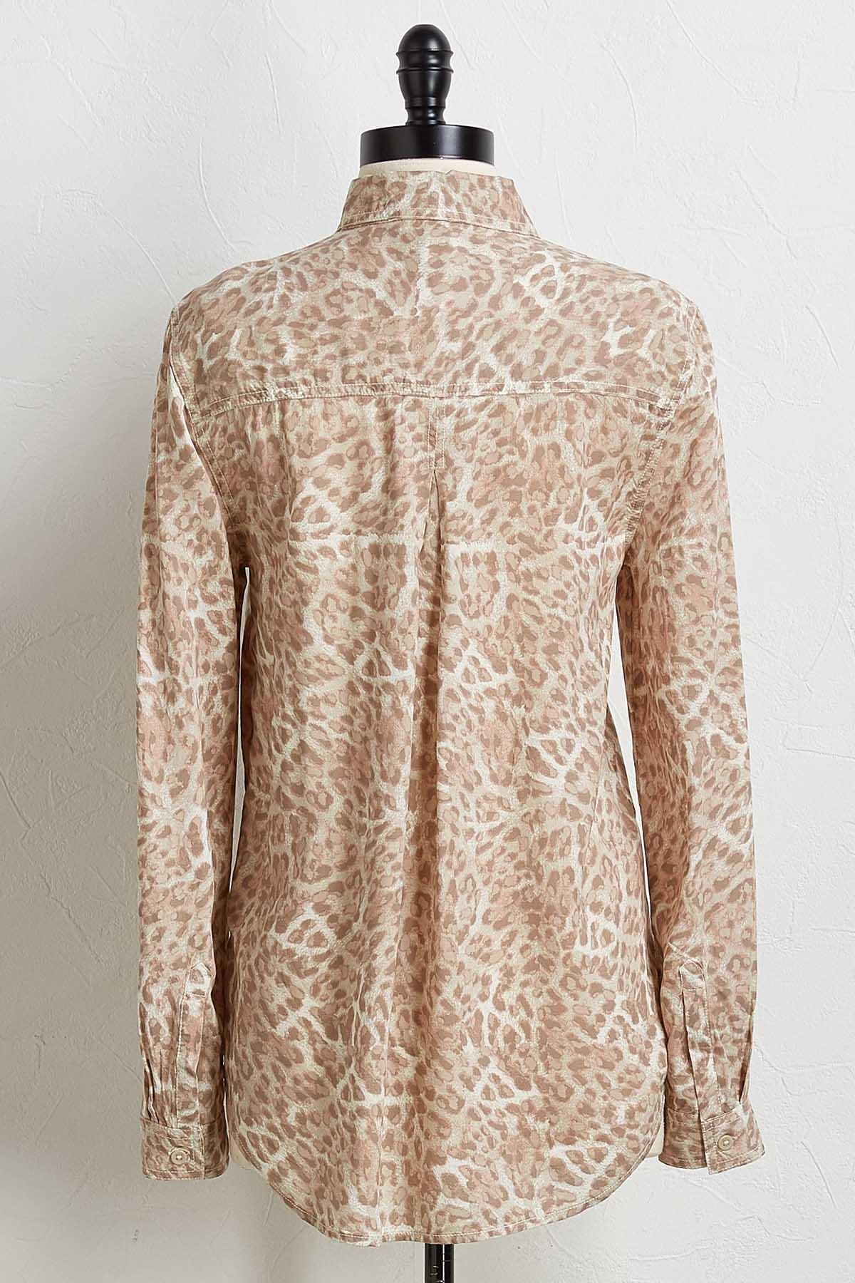 Button Down Cheetah Shirt