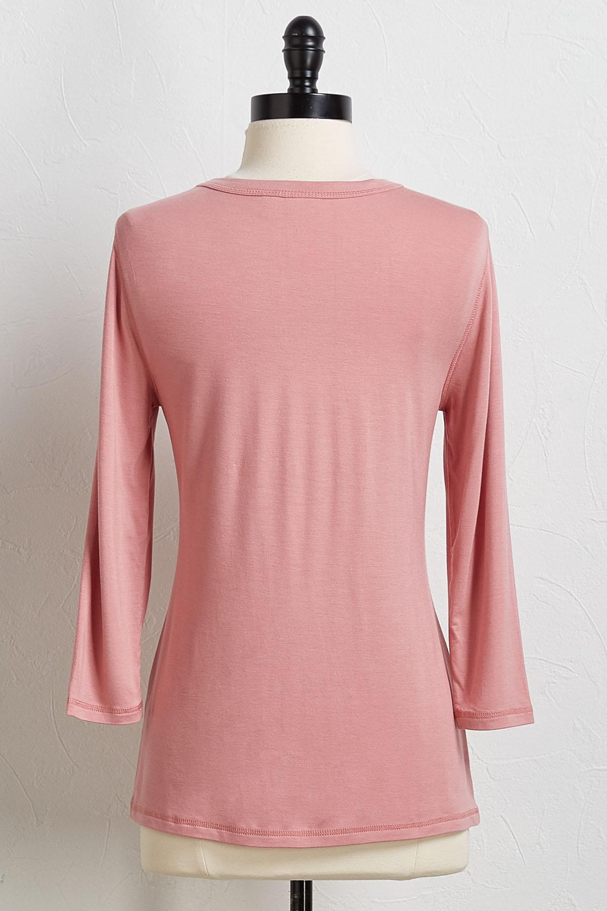 Casual Scoop Neck Top