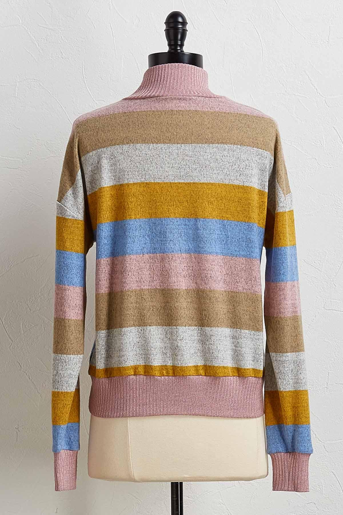 Multi Stripe Pullover Top