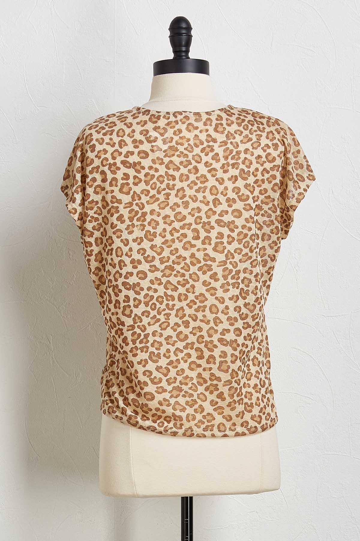 Knotted Leopard Skimmer Top