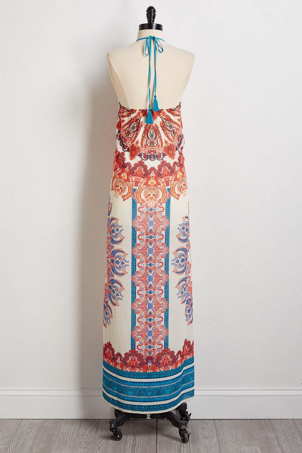 Paisley Halter Maxi Dress