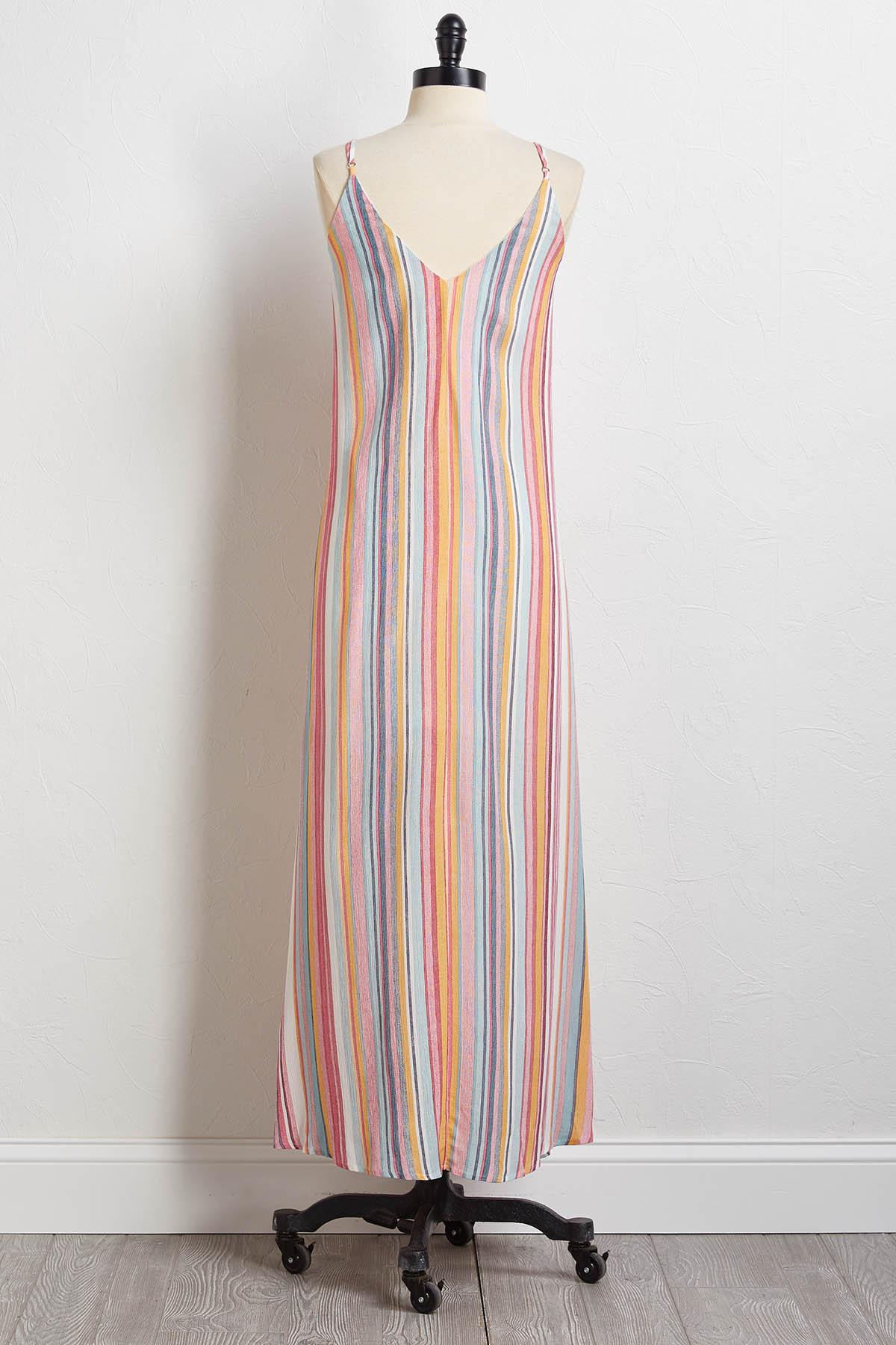 Candy Stripe Maxi Dress