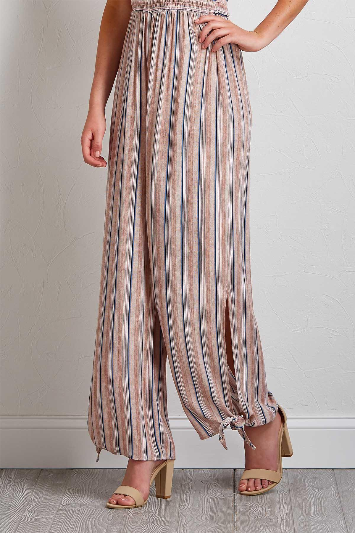 Blush Stripe Smocked Jumpsuit
