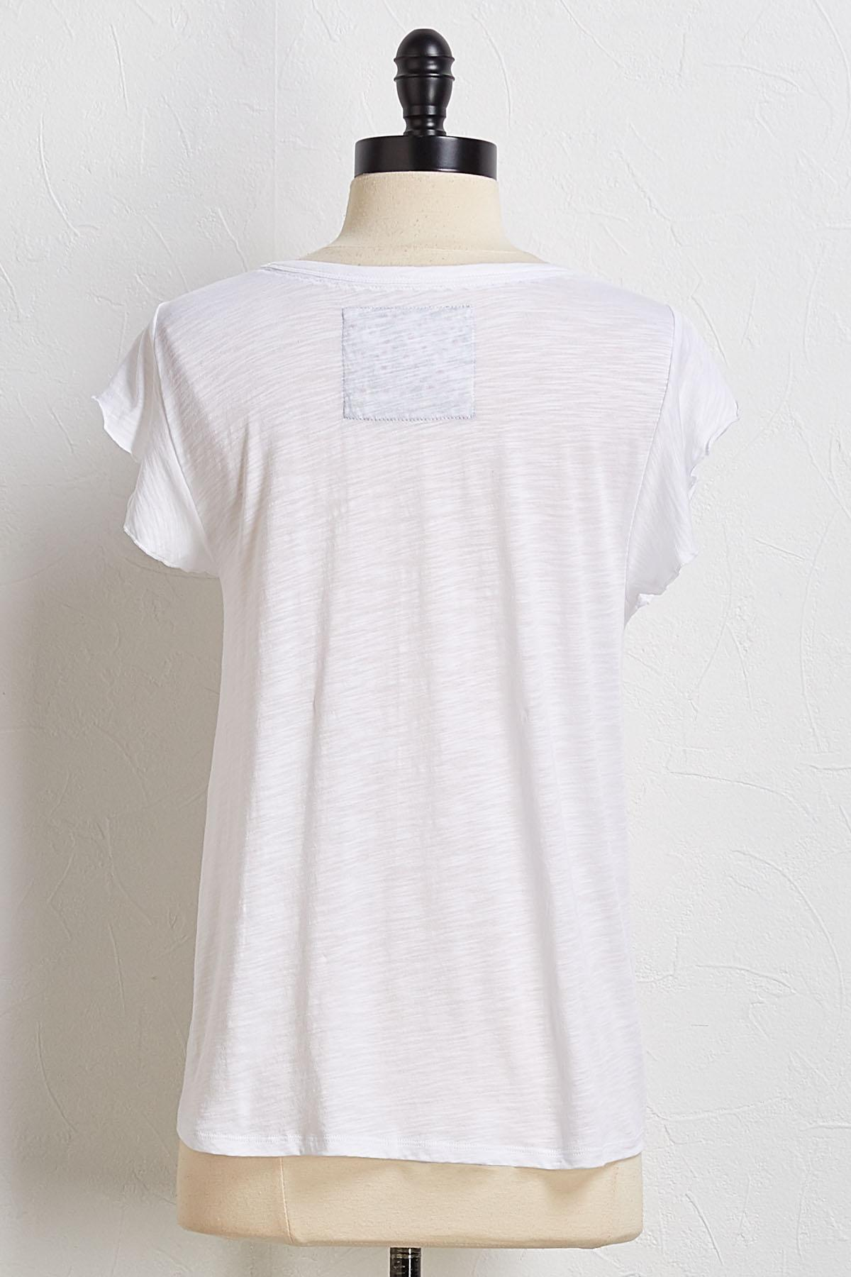 Knot Another White Tee