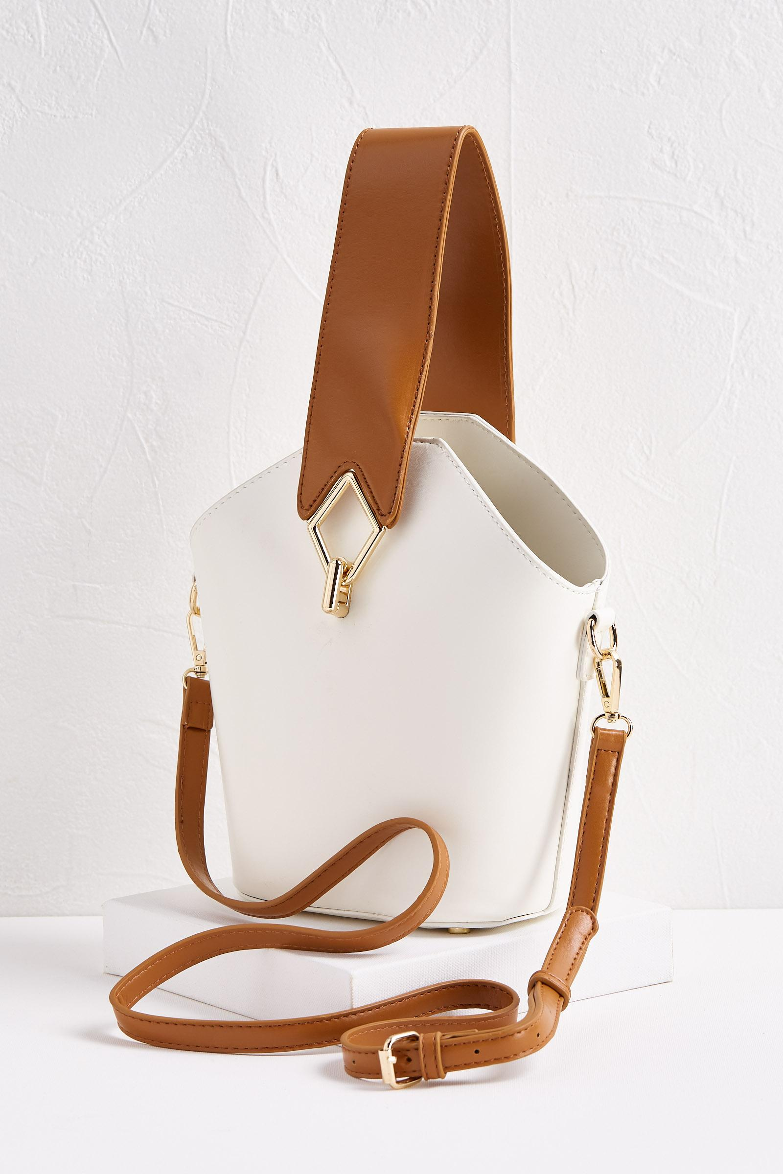Two- Toned Geo Bag