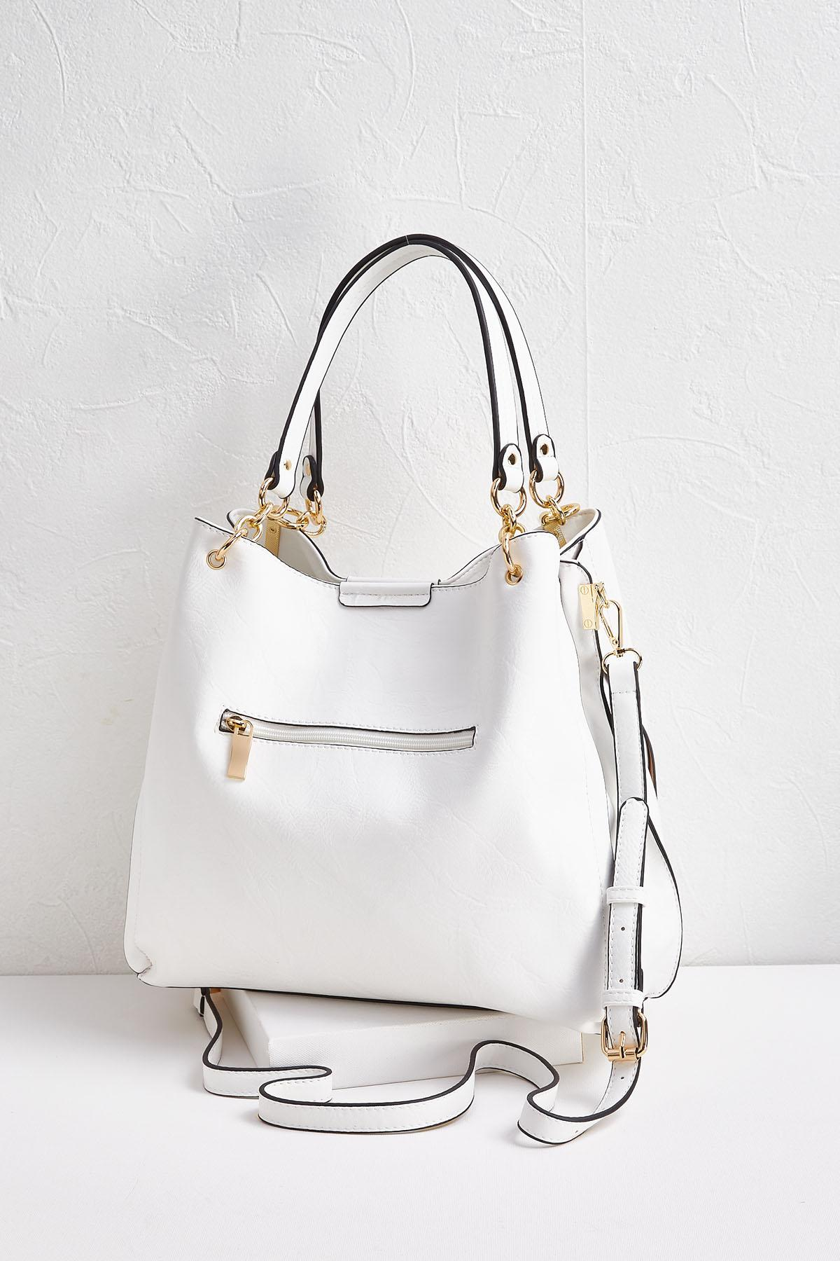 White Slouchy Tote