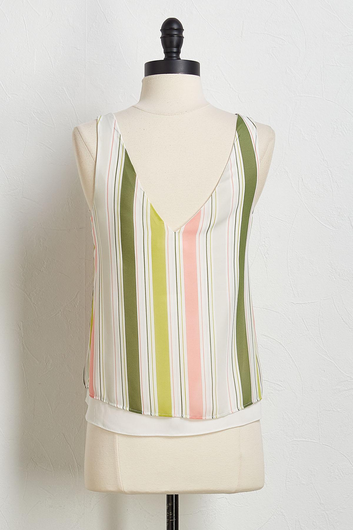 Striped Layered Tank
