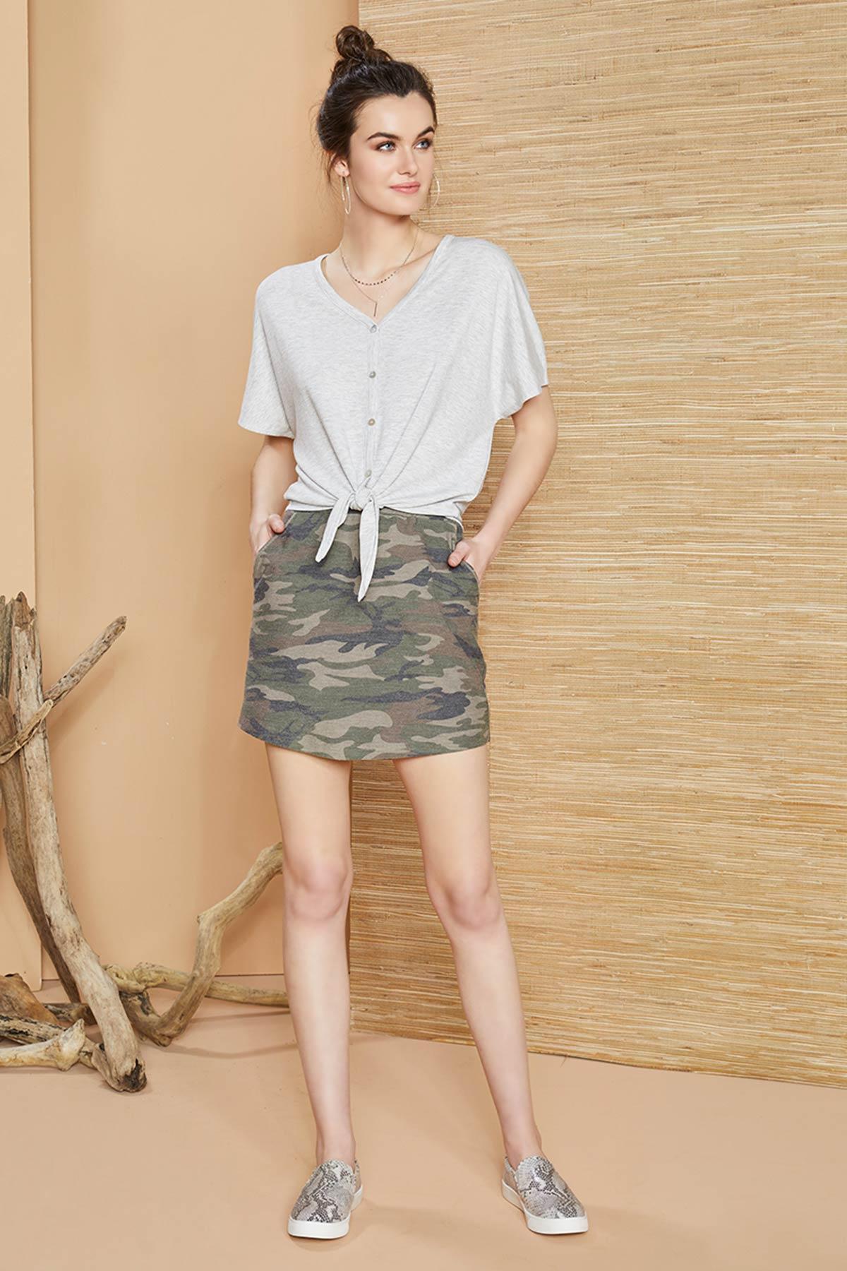 Knit Camo Skirt