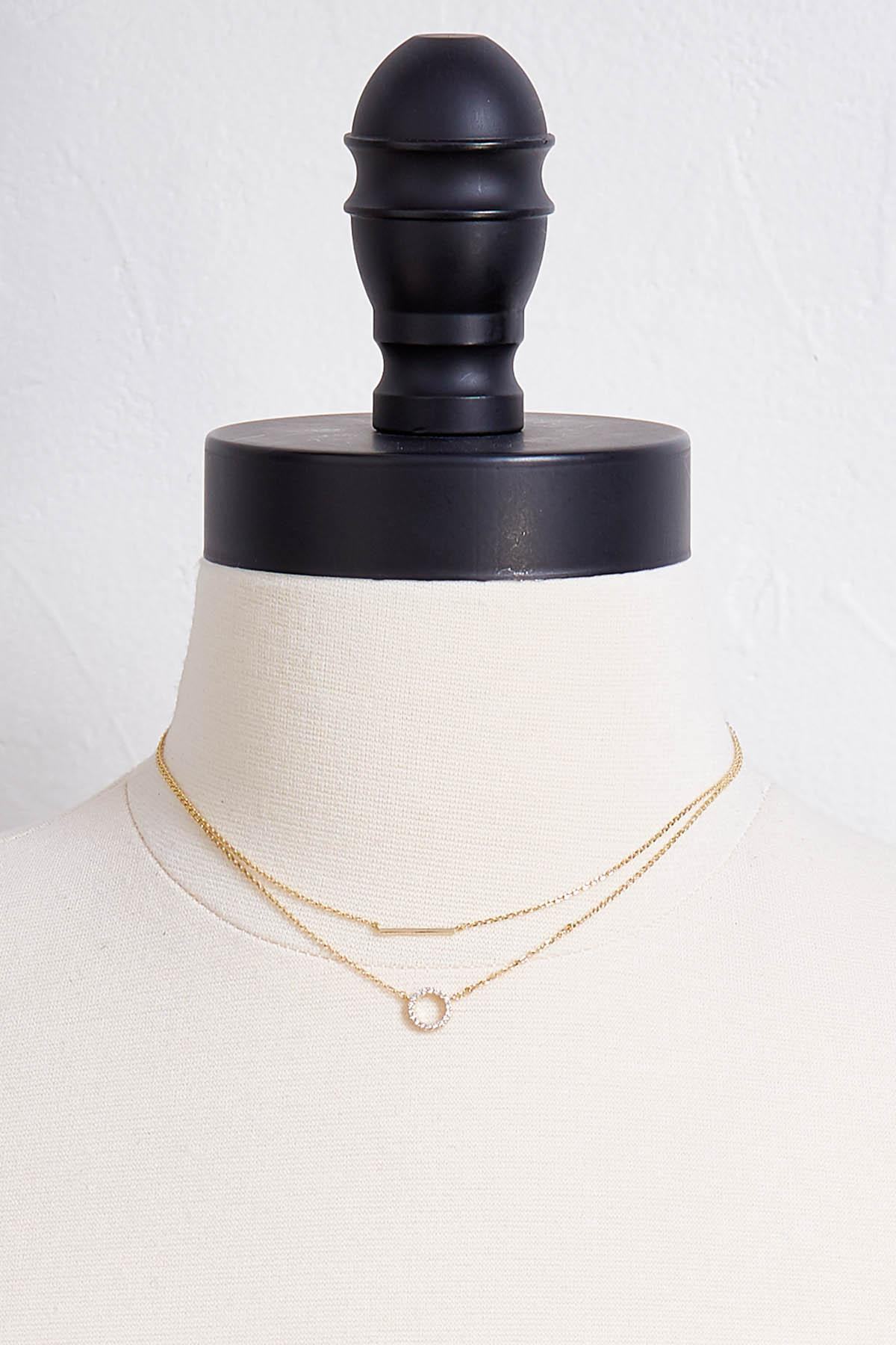 Bar And Circle Pendant Necklace