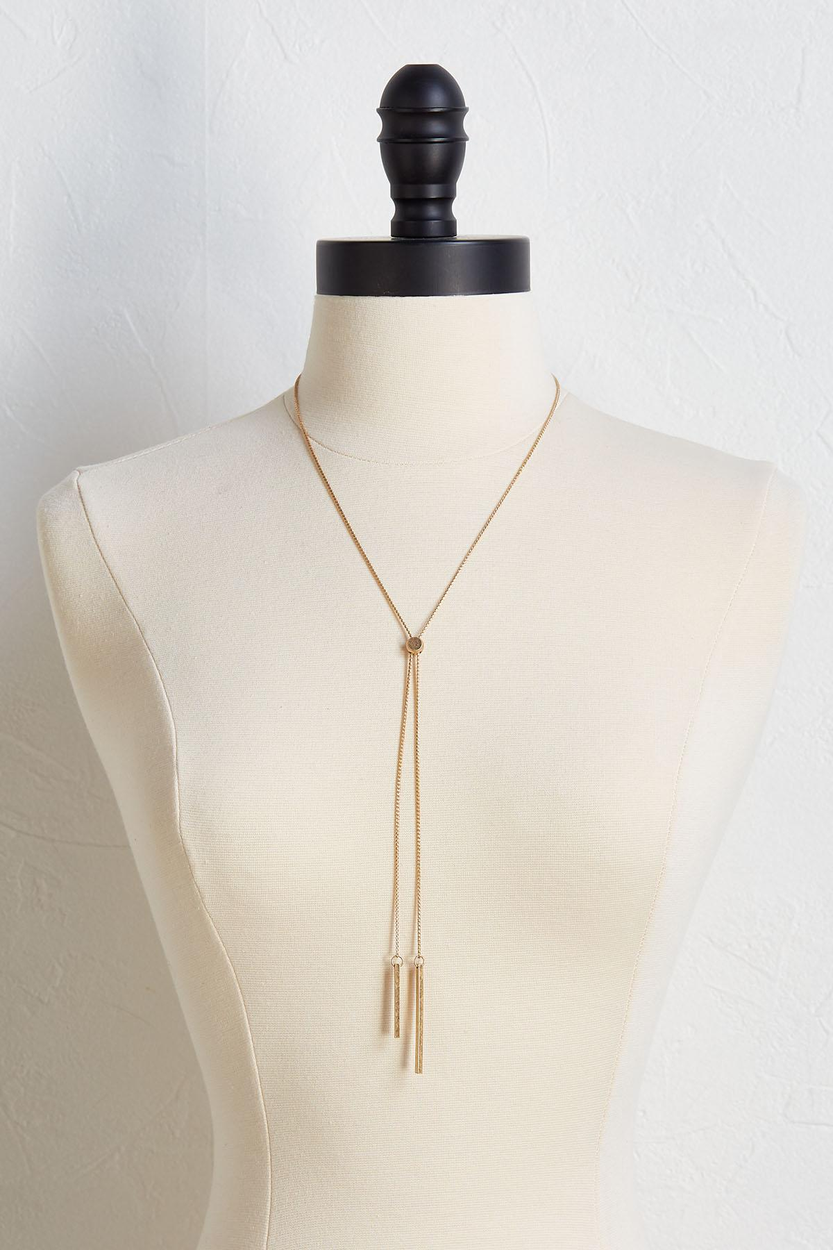 Adjustable Bar Y- Necklace